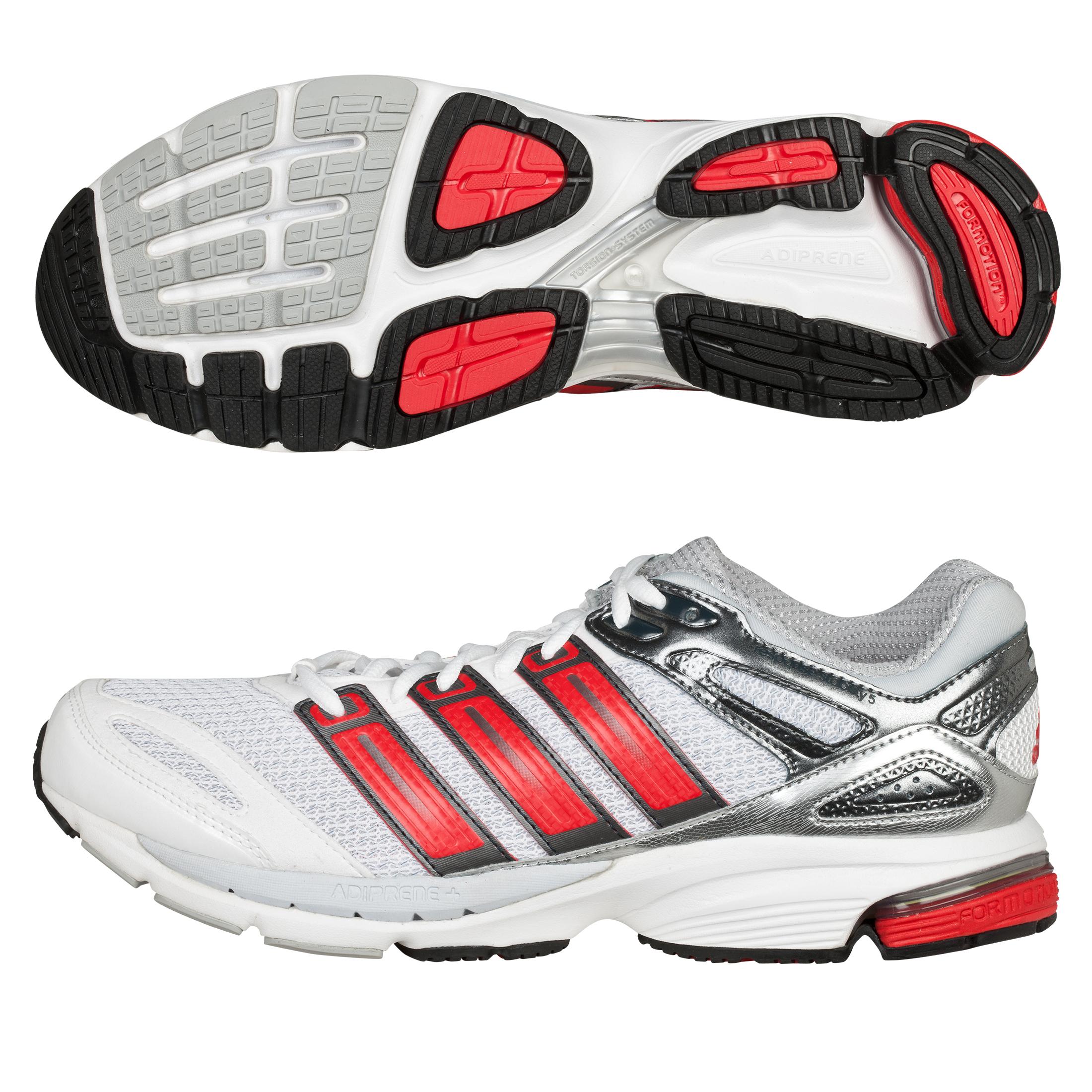 Adidas Response Stability 5 Trainers - White/Vivid Red/Neo Iron