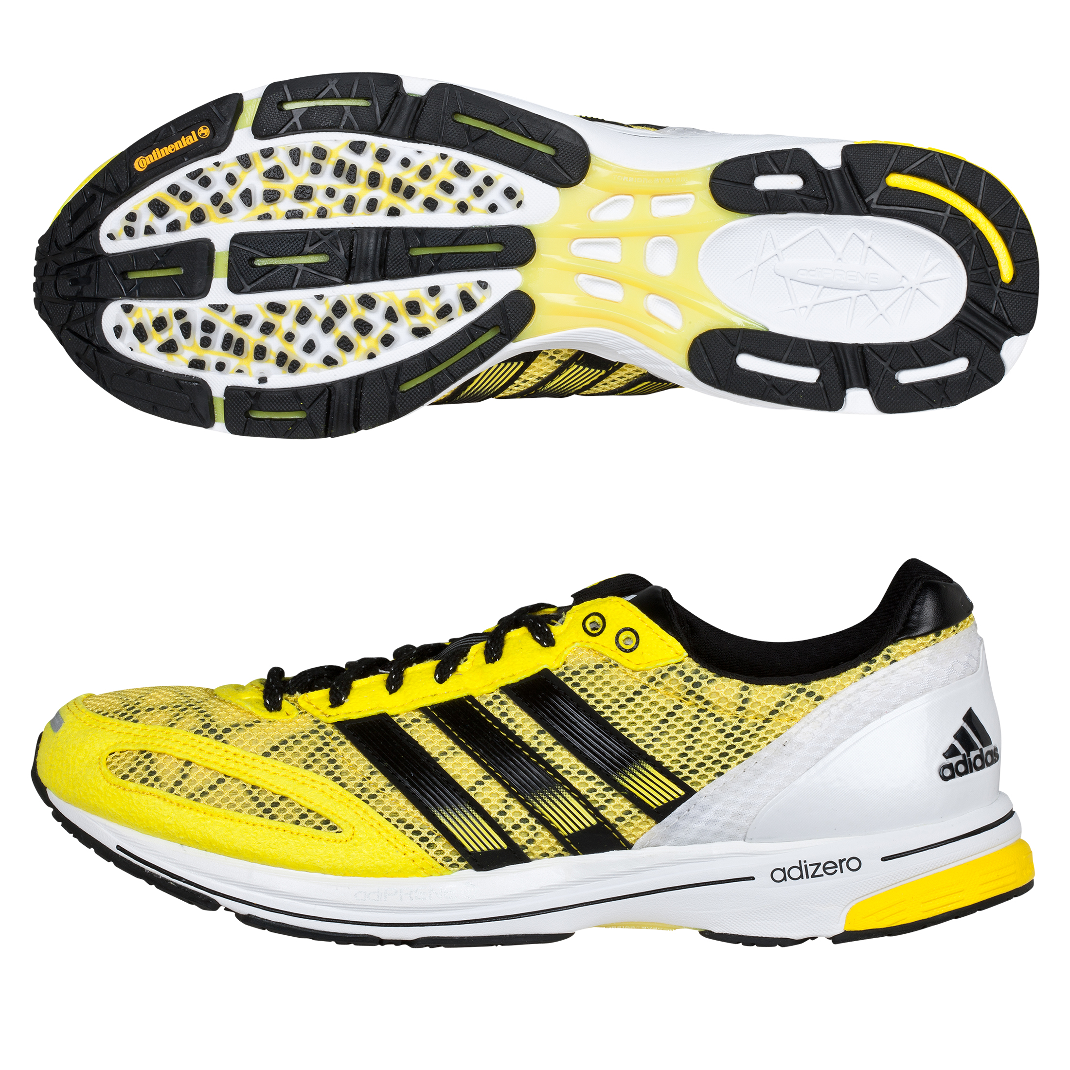 Adidas Adizero Adios 2 Trainers - Vivid Yellow/Black
