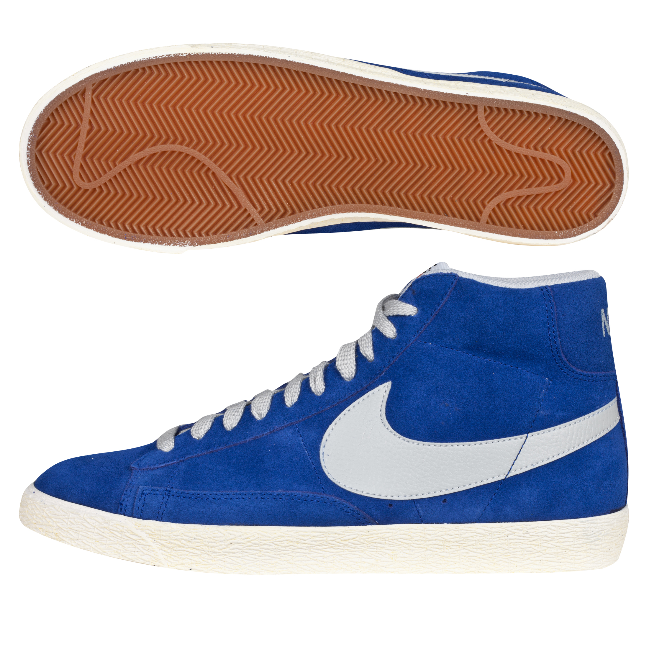 Nike Blazer Mid Vintage Suede Trainers - Deep Royal/Strata Grey
