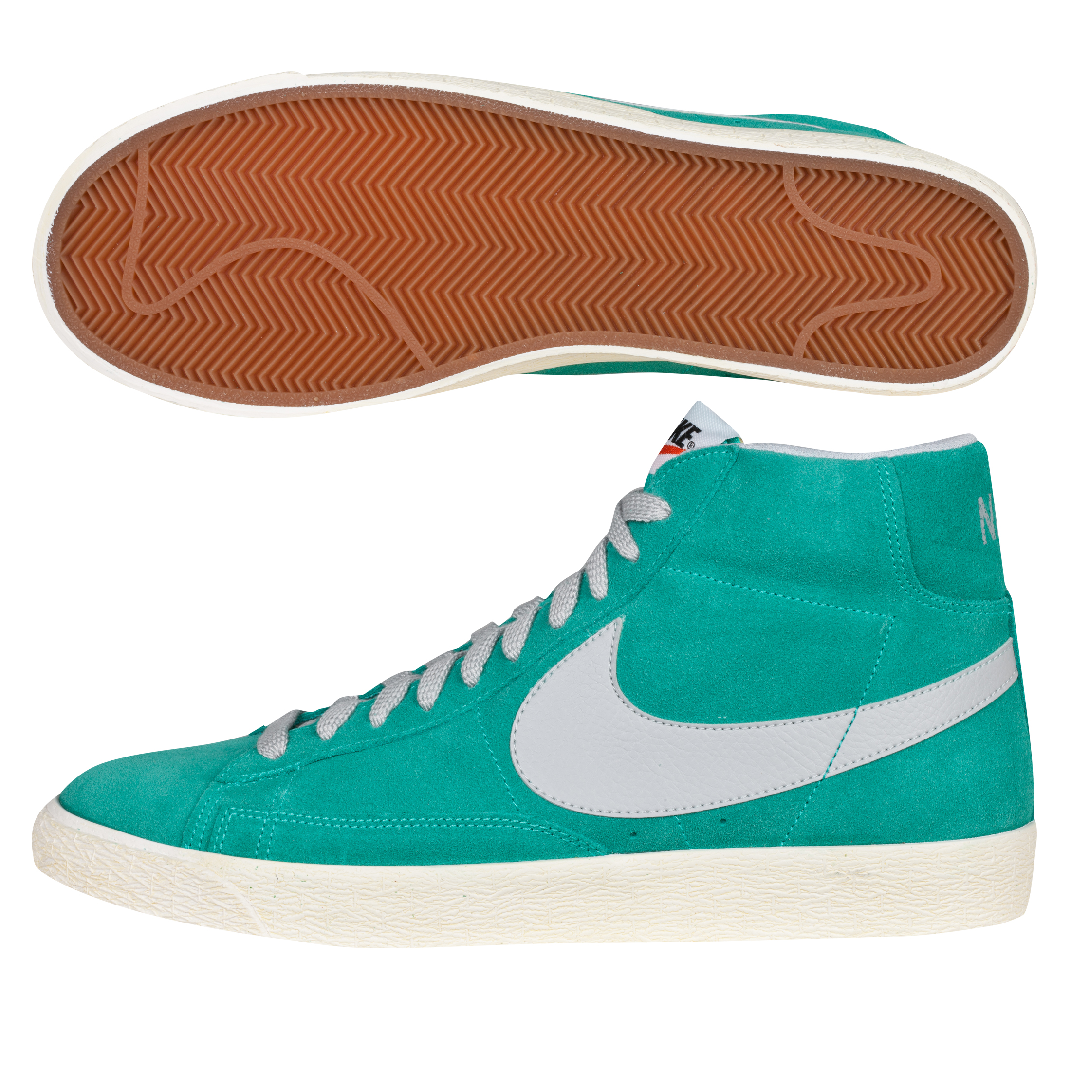 Nike Blazer Mid Vintage Suede Trainers - Atomic Teal/Strata Grey