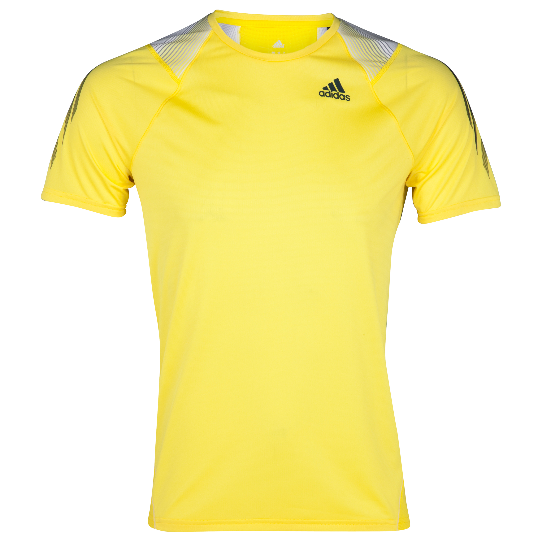 Adidas Adizero T-Shirt - Vivid Yellow/Tech Onix