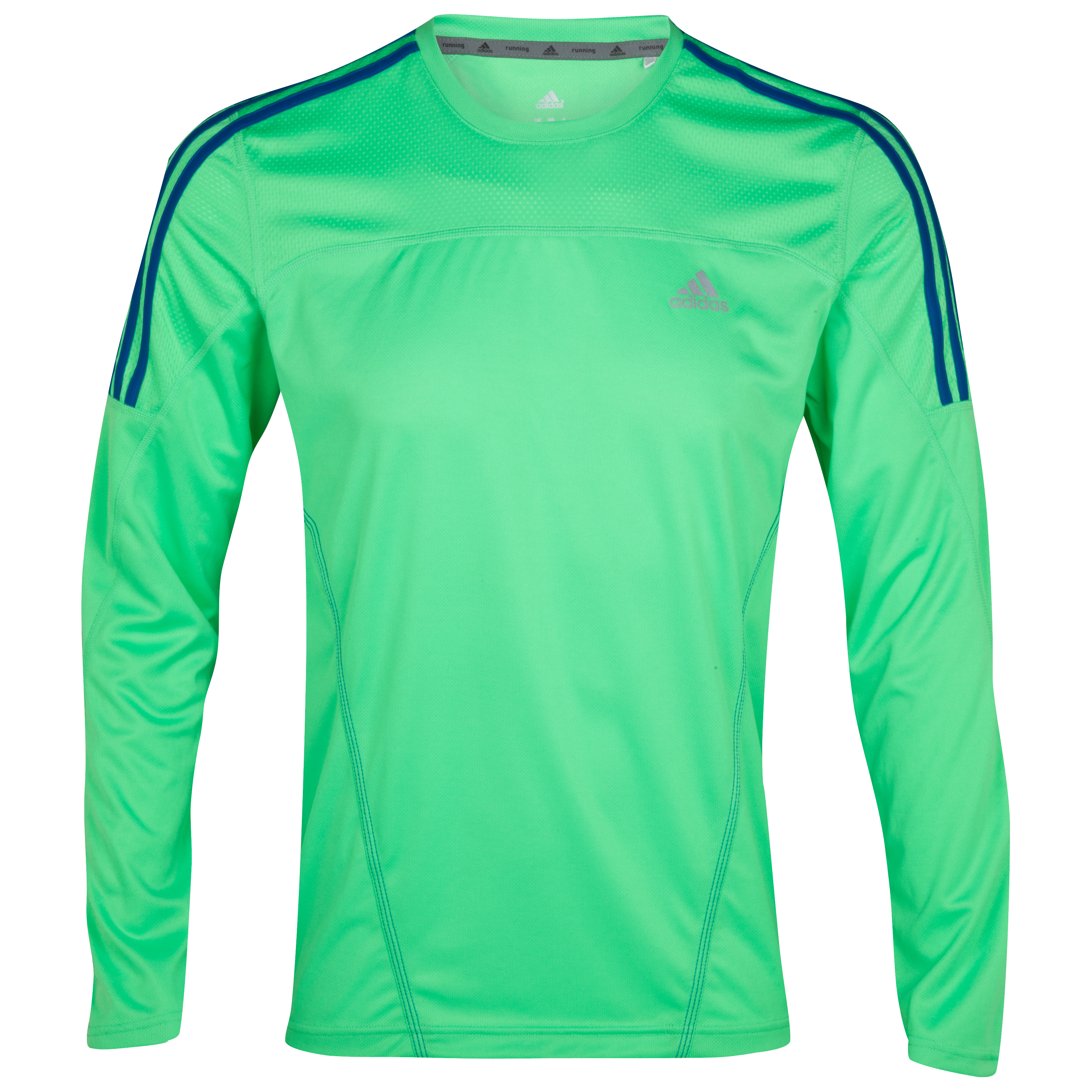 Adidas Response T-Shirt - Long Sleeve - Green Zest/Prime Blue