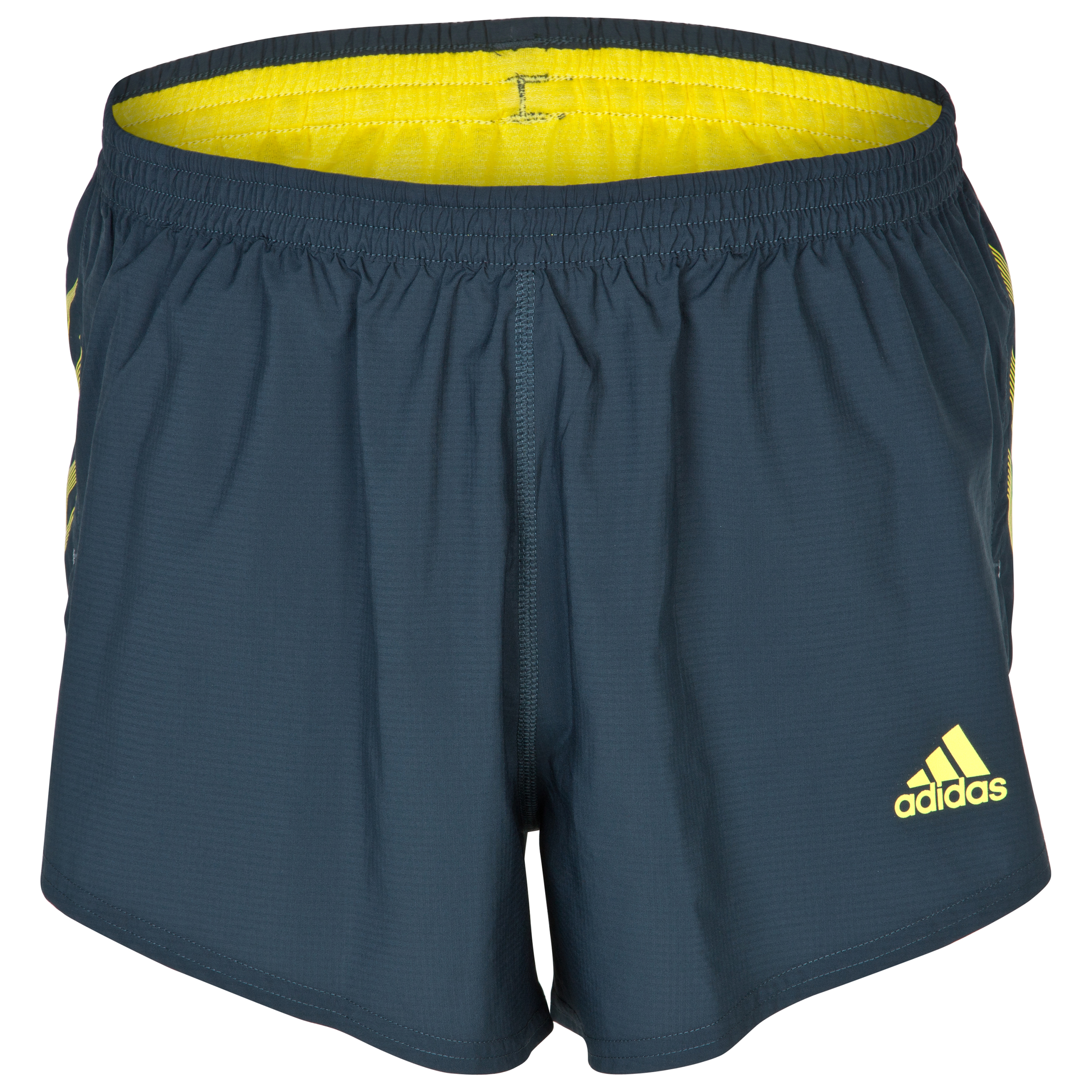 Adidas Adizero Split Shorts - Tech Onix/Vivid Yellow