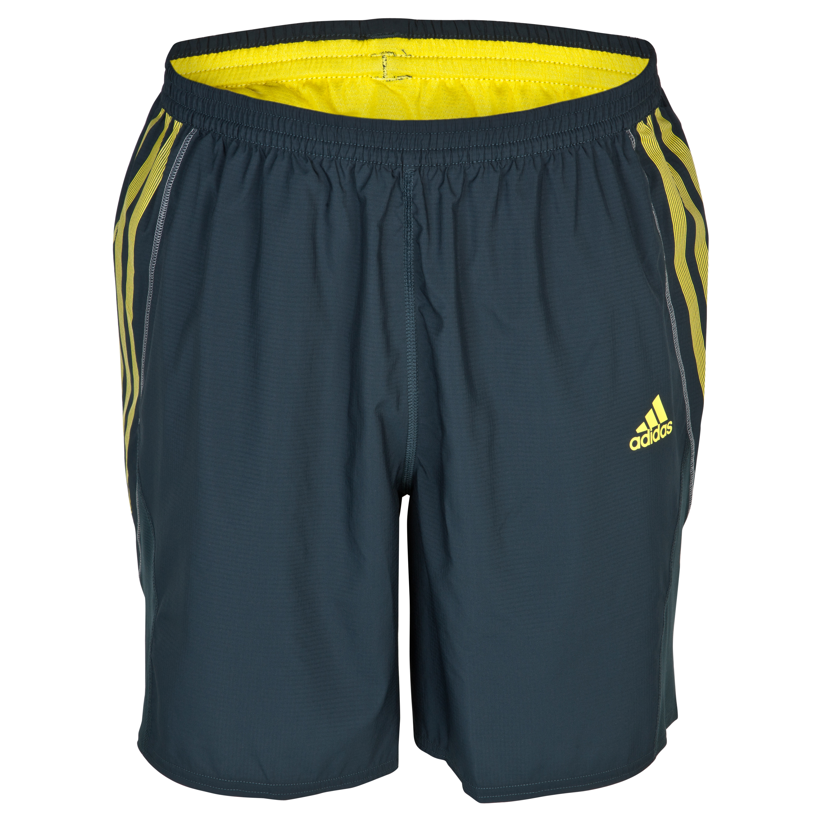 Adidas Adizero 7 Inch Shorts - Tech Onix/Vivid Yellow