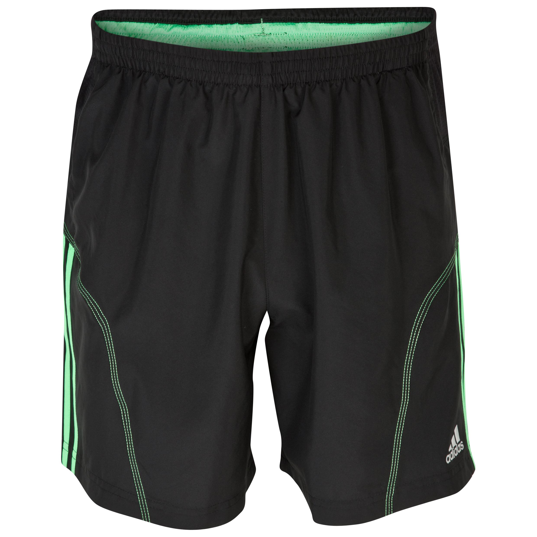 Adidas Response 7 Inch Shorts - Black/Green Zest