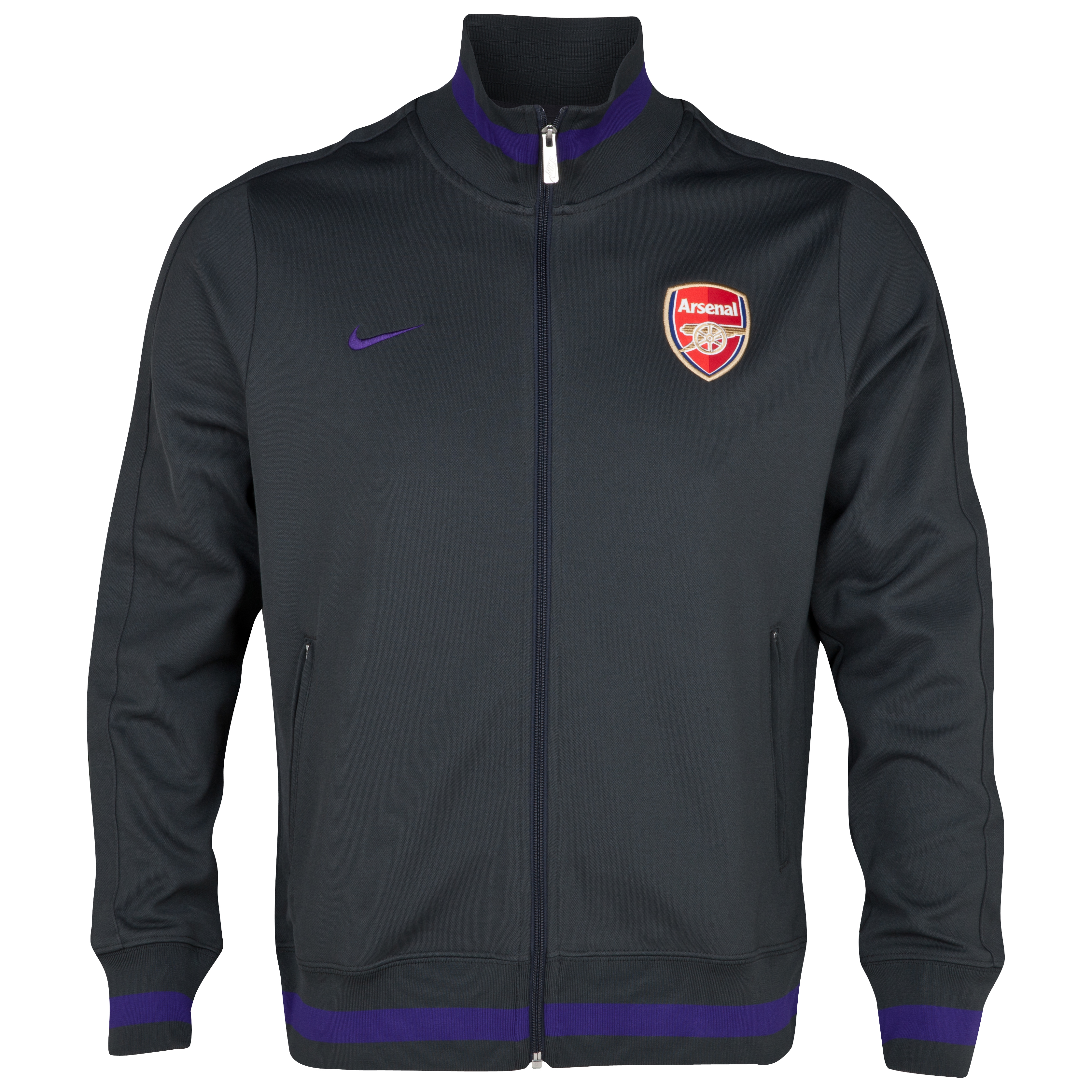 Arsenal Authentic N98 Track Jacket - Anthracite/Court Purple