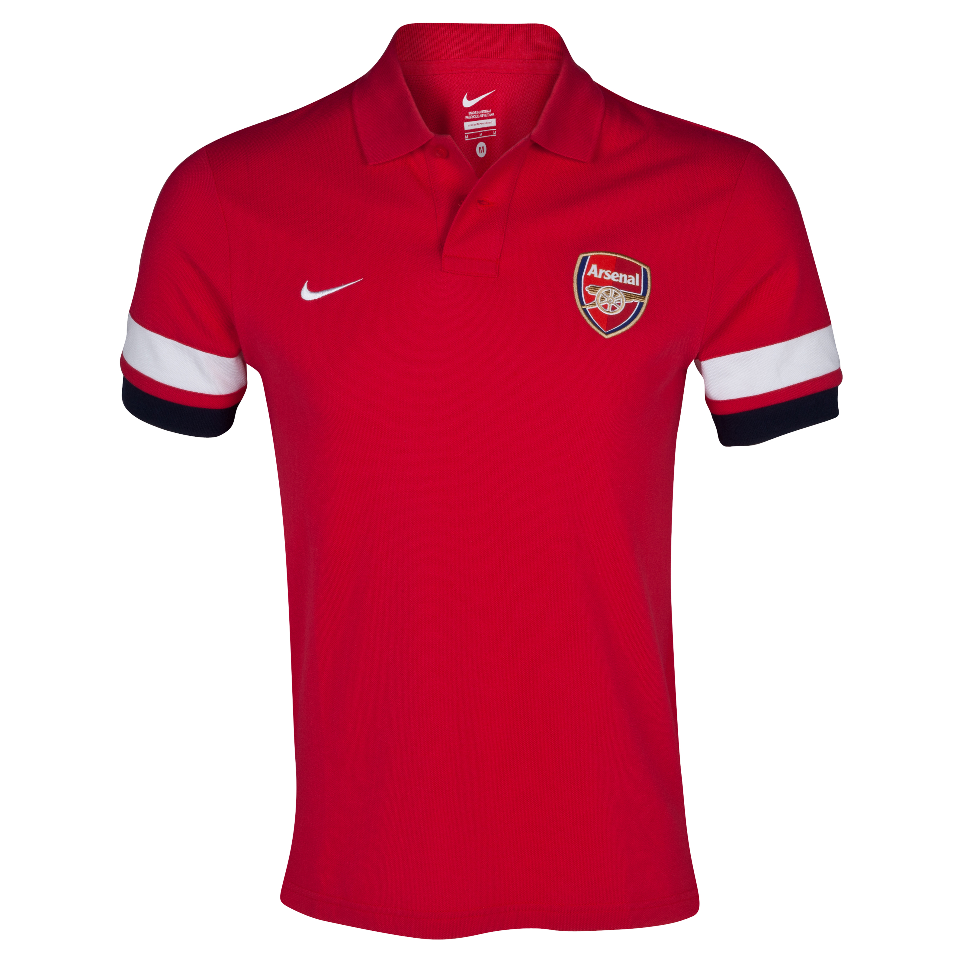 Arsenal Authentic Grandslam Polo - Artillery Red/White/Obsidian/White
