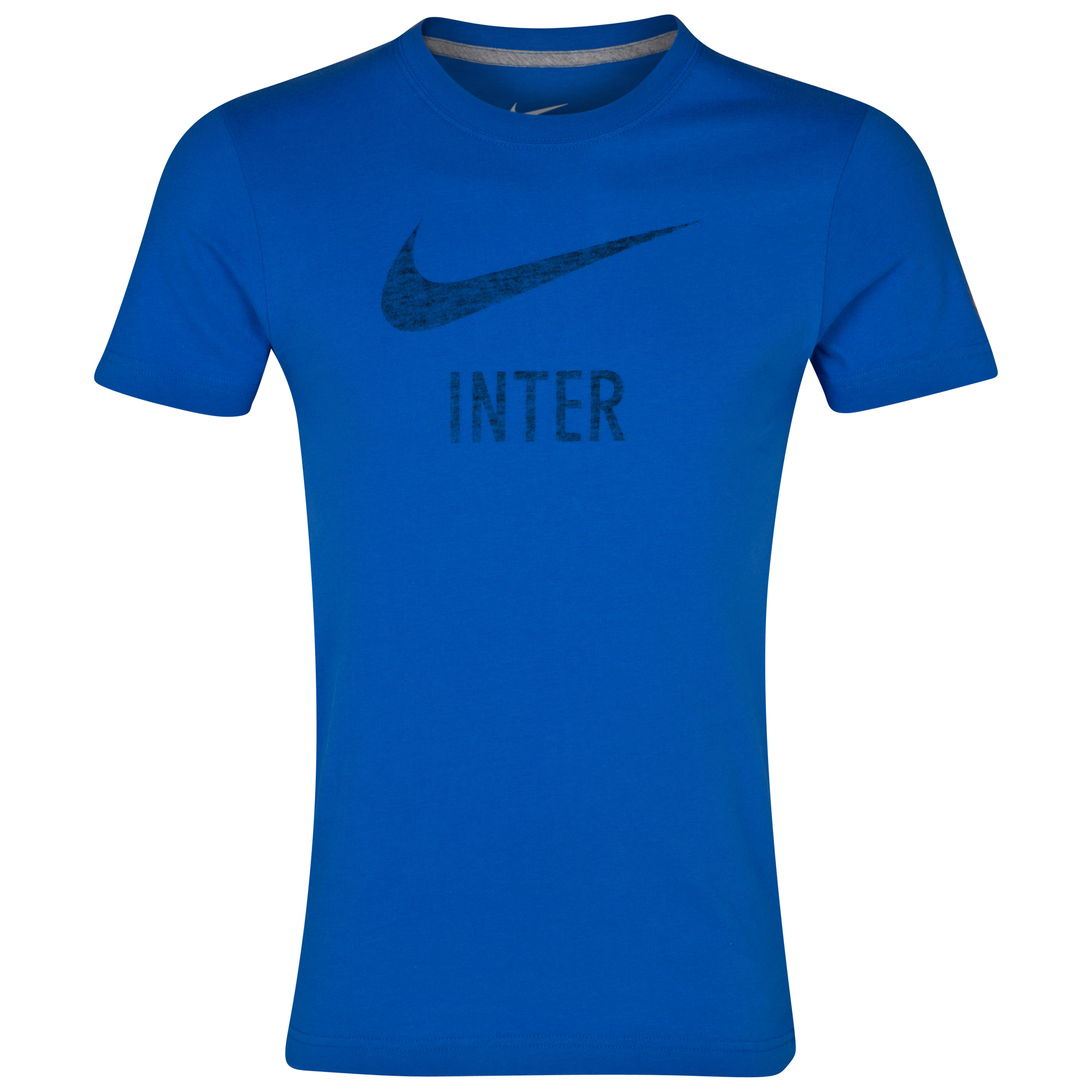 Inter Milan Basic T-Shirt - Royal Blue/Dk Grey Heather
