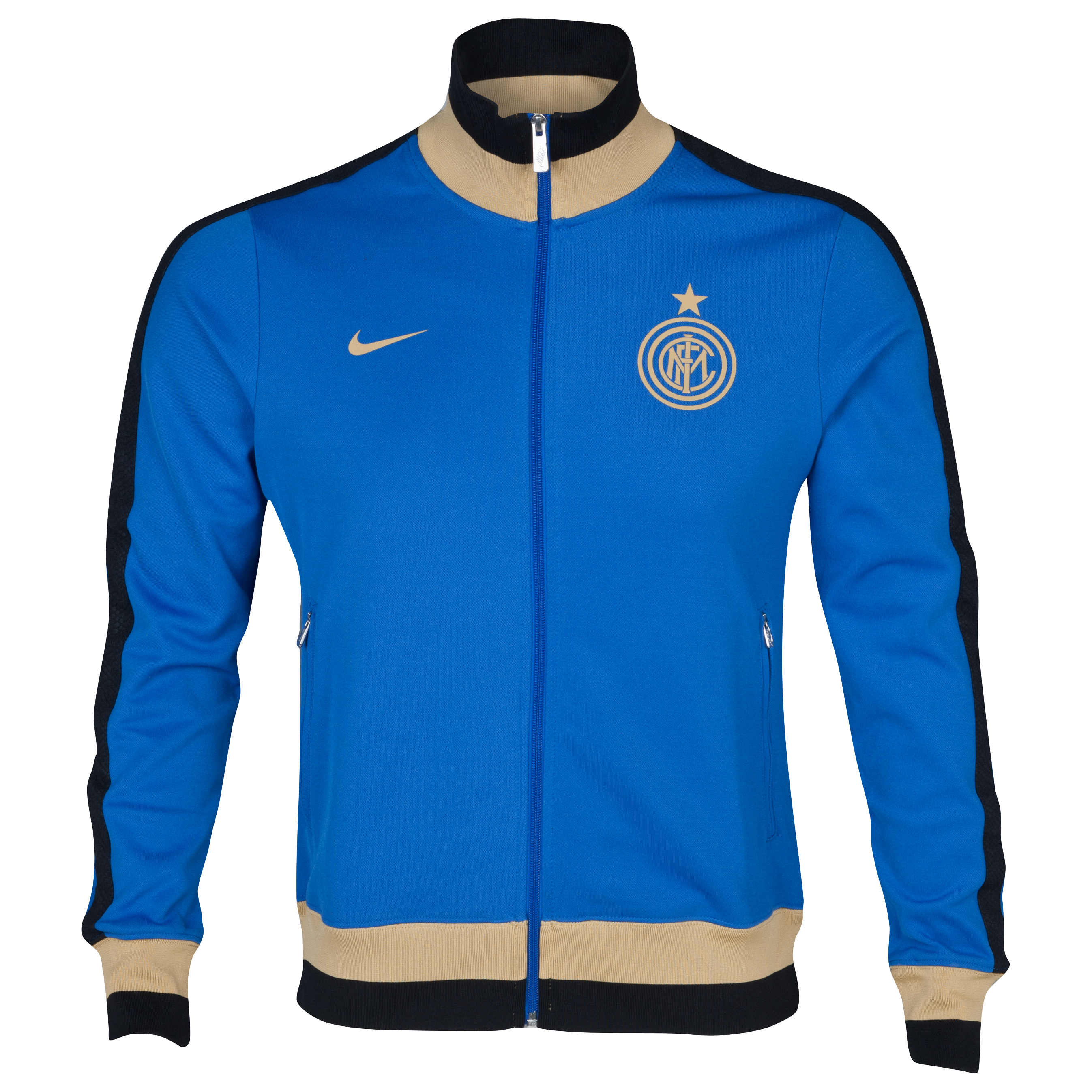 Inter Milan Authentic N98 Track Jacket - Royal Blue/Jersey Gold