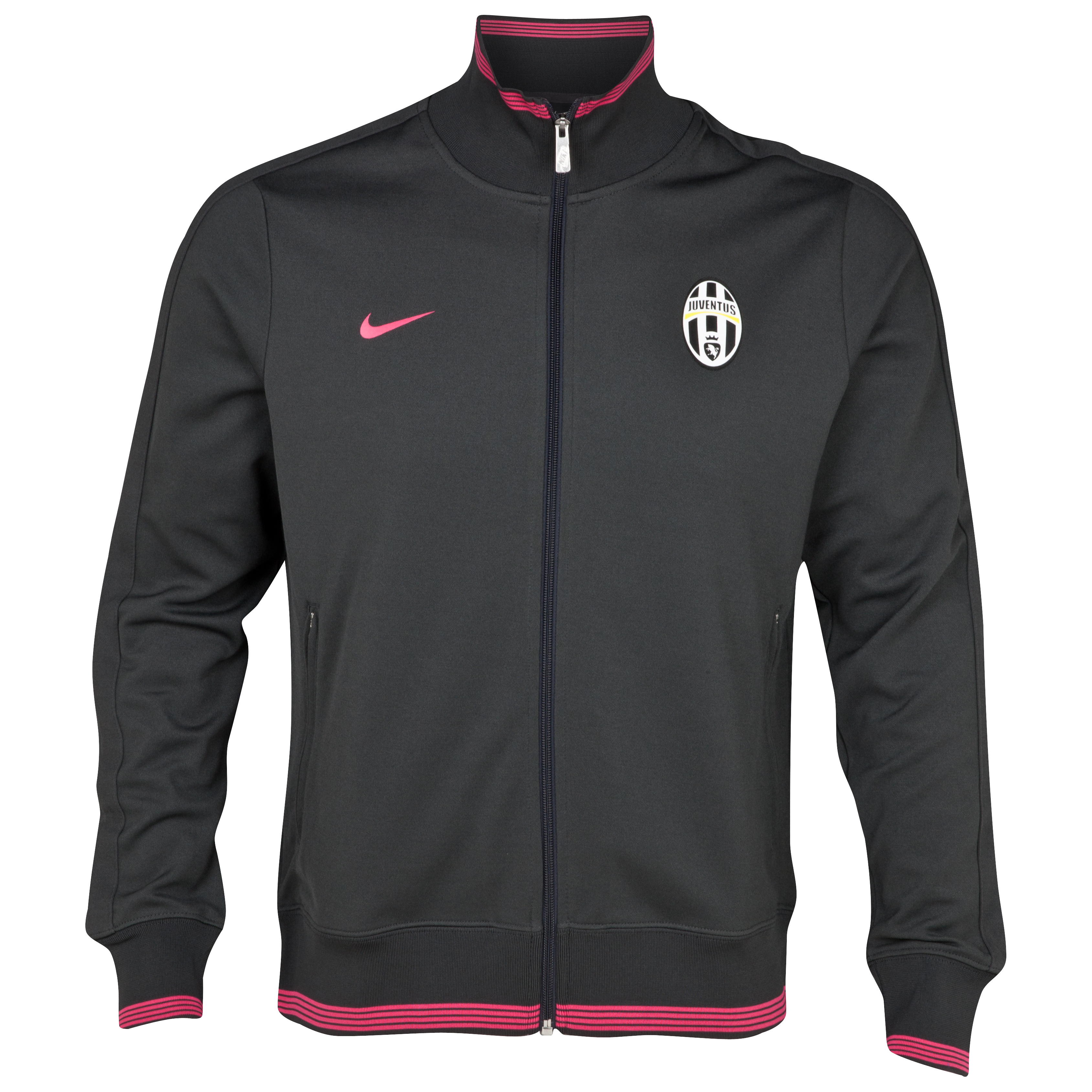 Juventus Authentic N98 Track Jacket - Anthracite/Pink Force