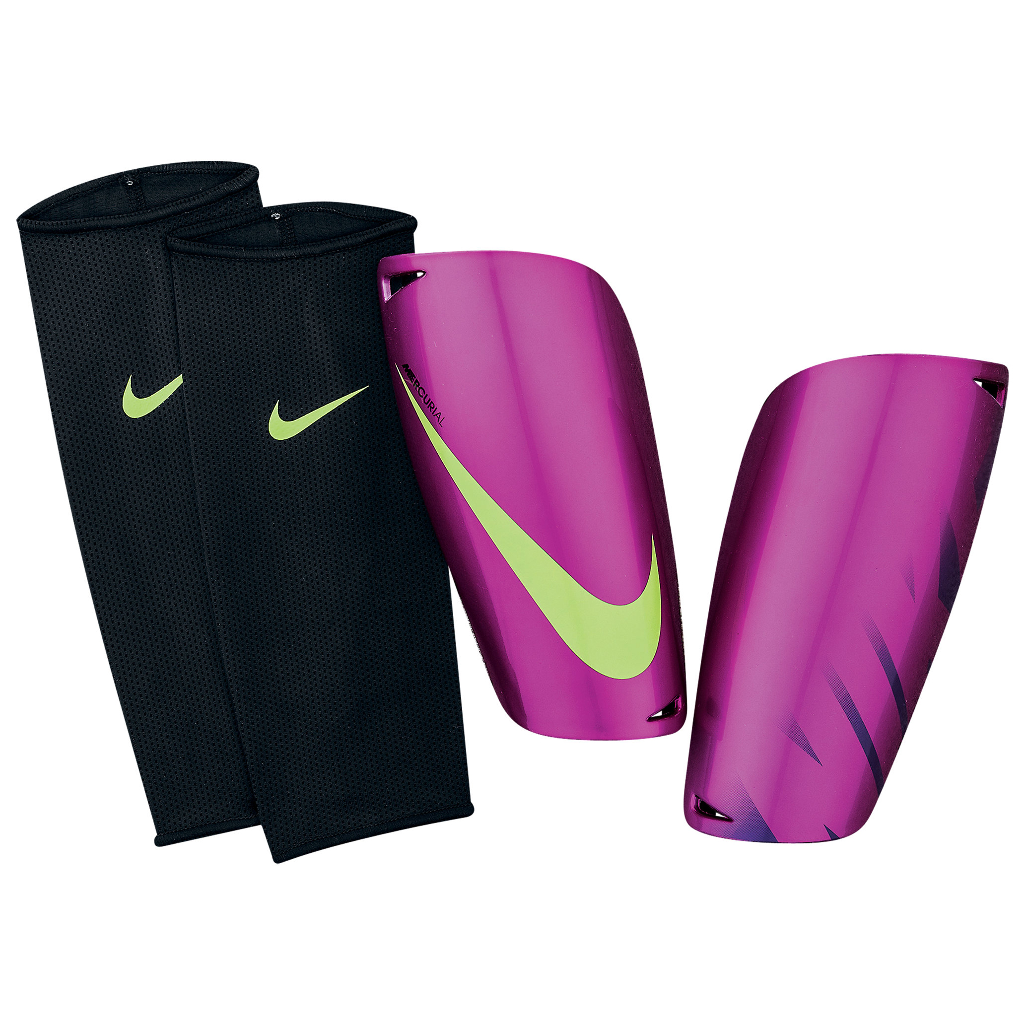 Nike Mercurial Lite Shinpads - Purple/Purple/Green