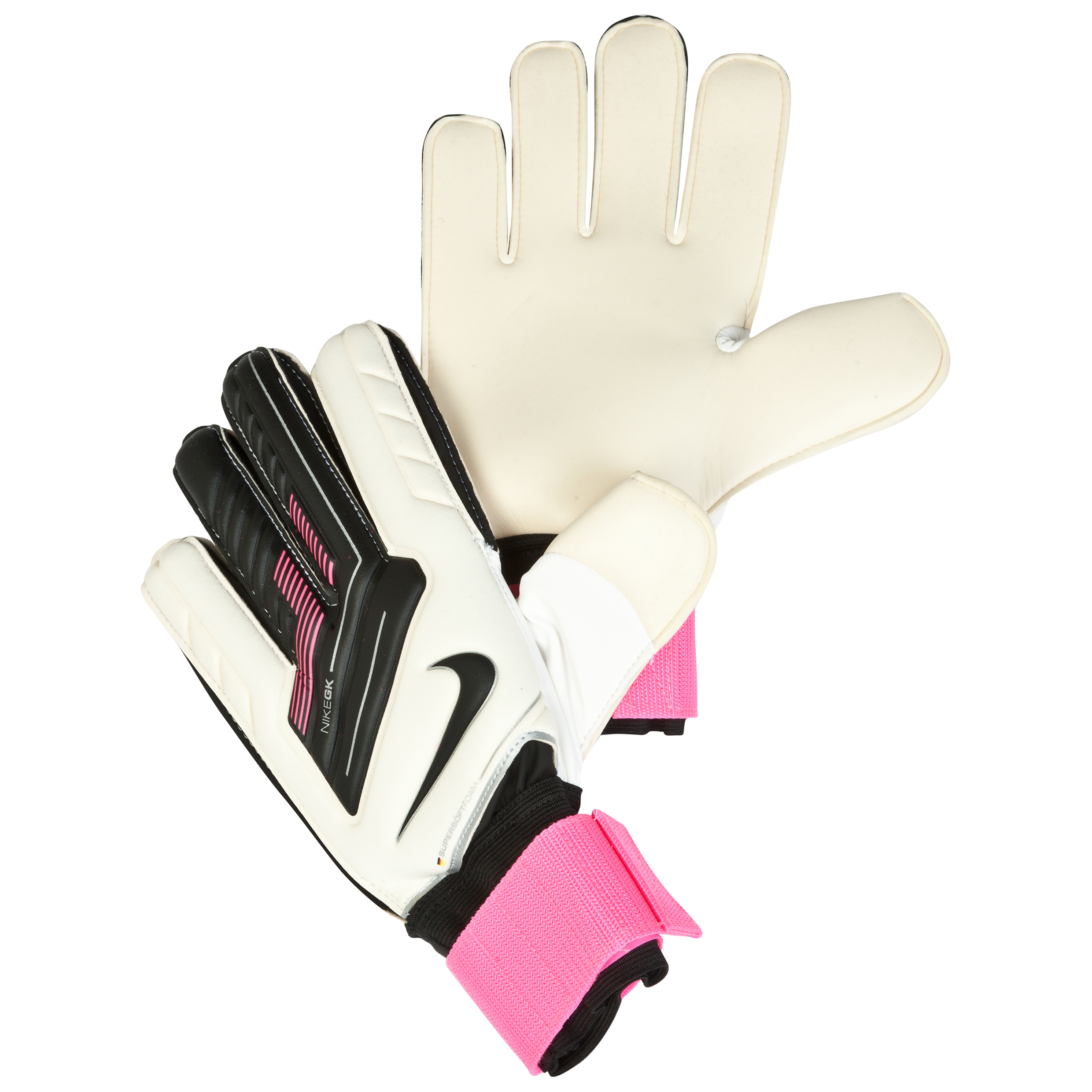 Nike Spyne Pro Goalkeeper Gloves - White/Pink Flash/Black