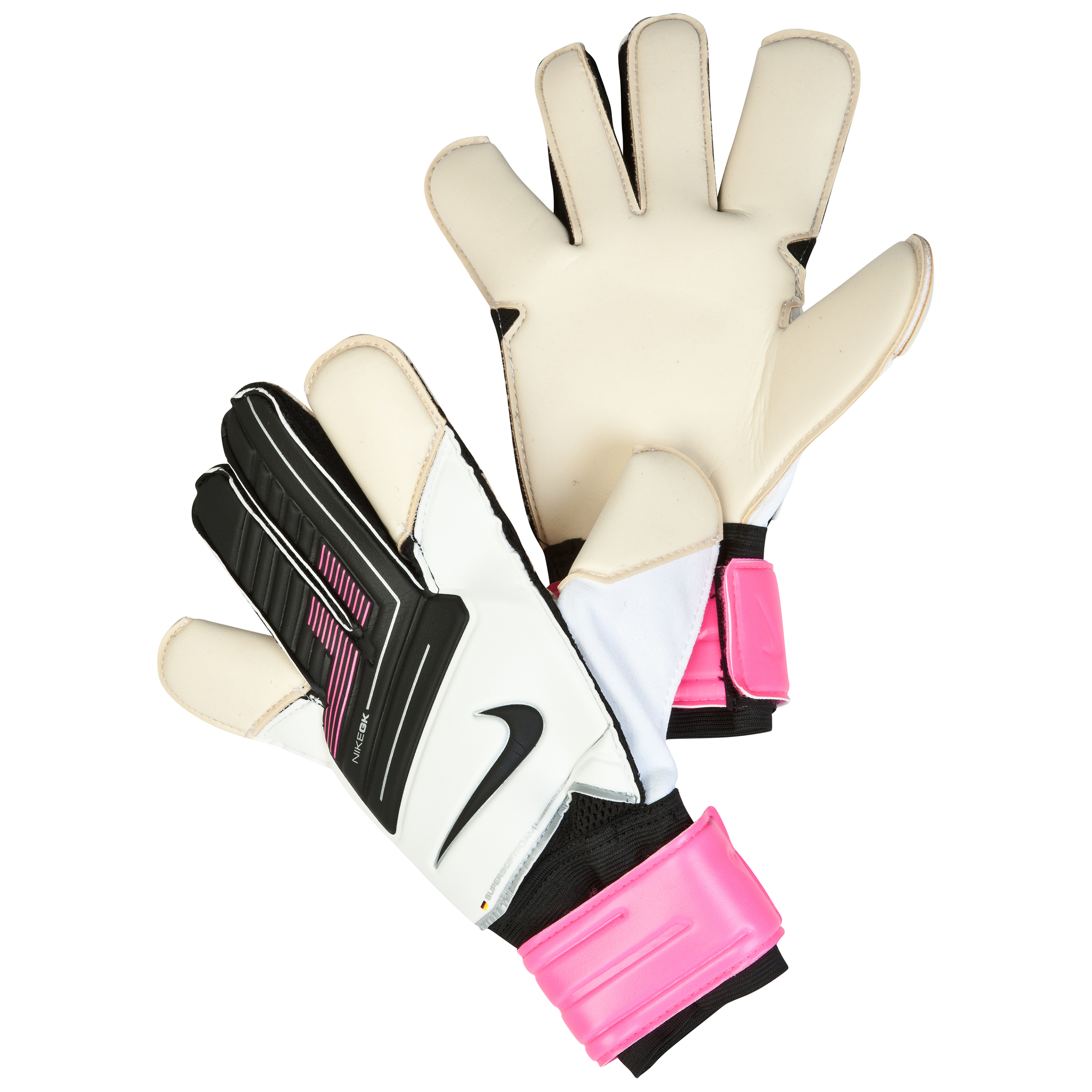 Nike Grip 3 Goalkeeper Gloves - White/Pink Flash/Black