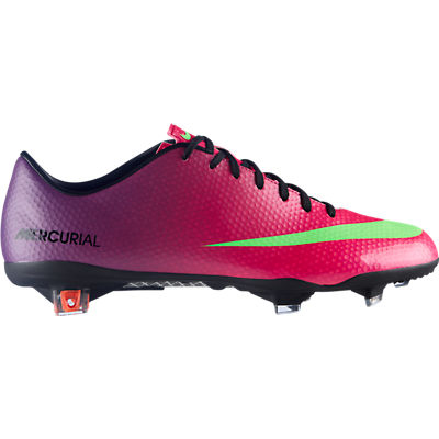 Nike Mercurial Vapor IX Firm Ground Football Boots -Fireberry/Electric Green/Red Plum