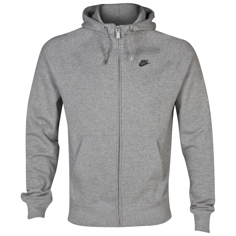 Nike HBR FT FZ Hoody - Dark Grey Heather