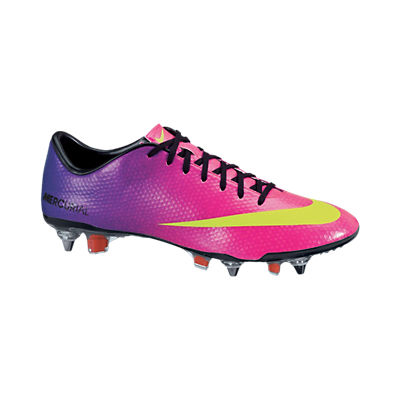 Nike Mercurial Vapor IX Soft Ground Pro Football Boots - Fireberry/Electric Green/Red Plum