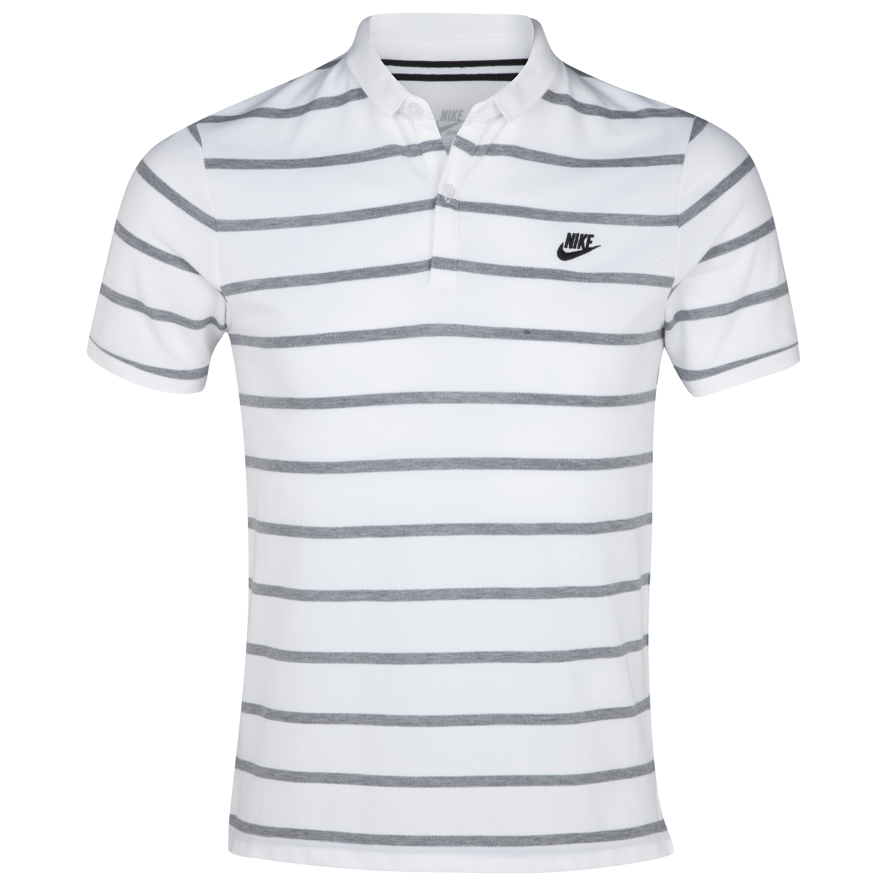 Nike Stripe Slim Collar Polo - White/Black