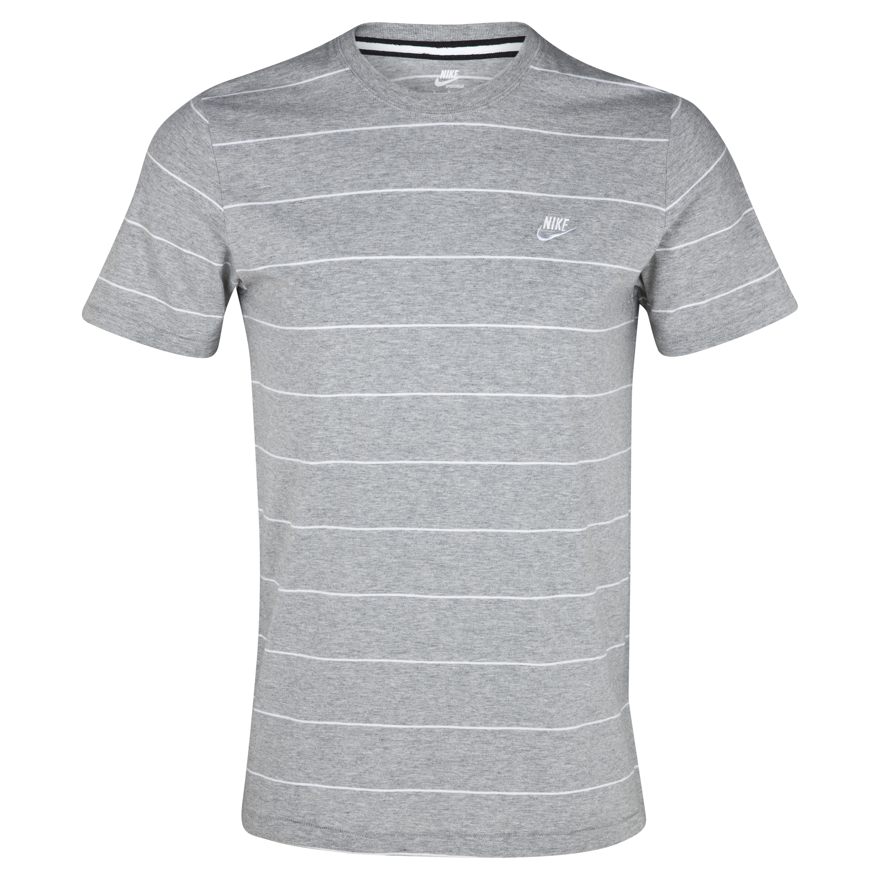Nike YD Striped Futura Tee - Dark Grey Heather/White
