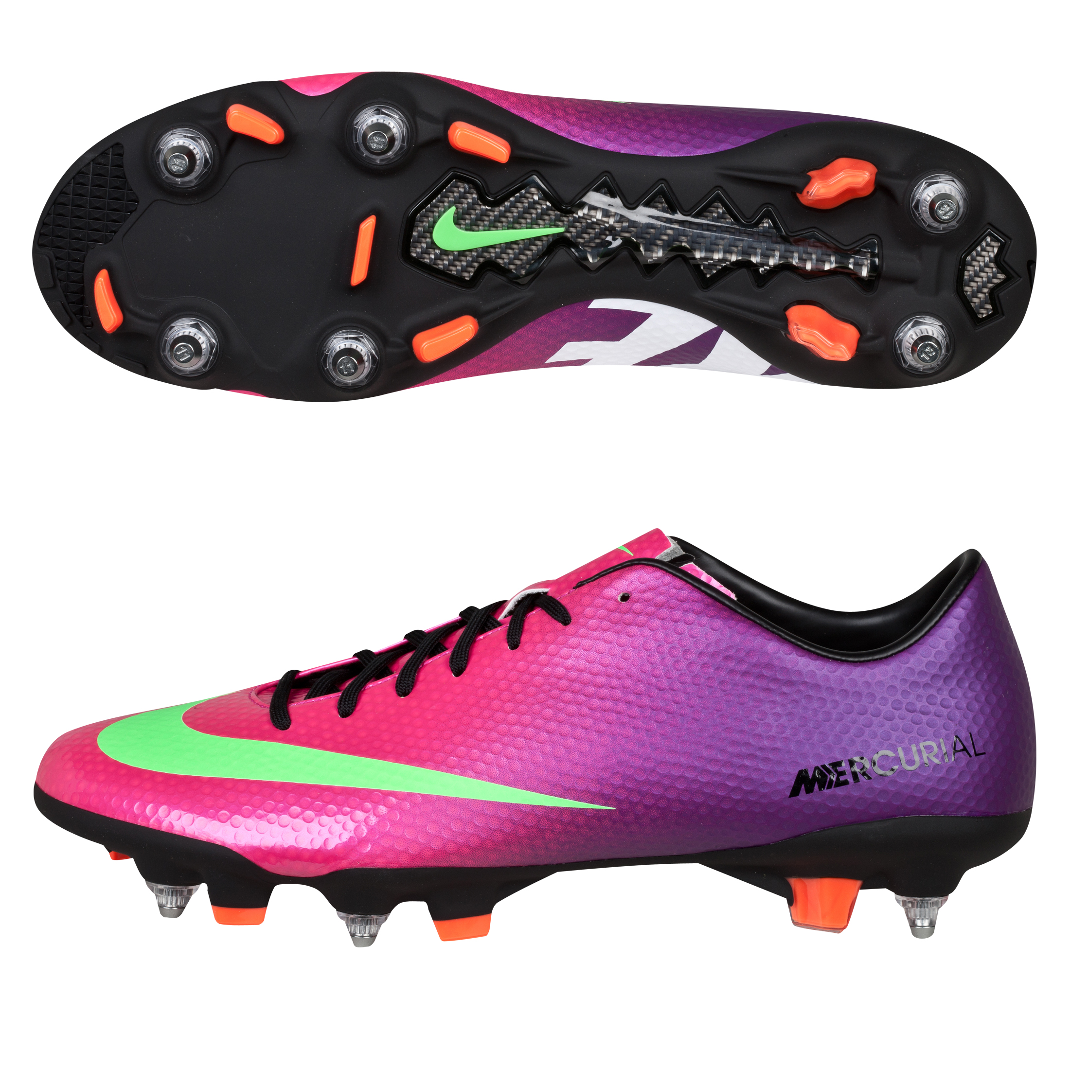 Nike Mercurial Veloce Soft Ground Pro Football Boots - Fireberry/Electric Green/Red Plum