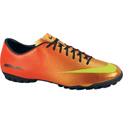 Nike Mercurial Victory IV Astroturf Trainers - Sunset/Volt/Total Crimson