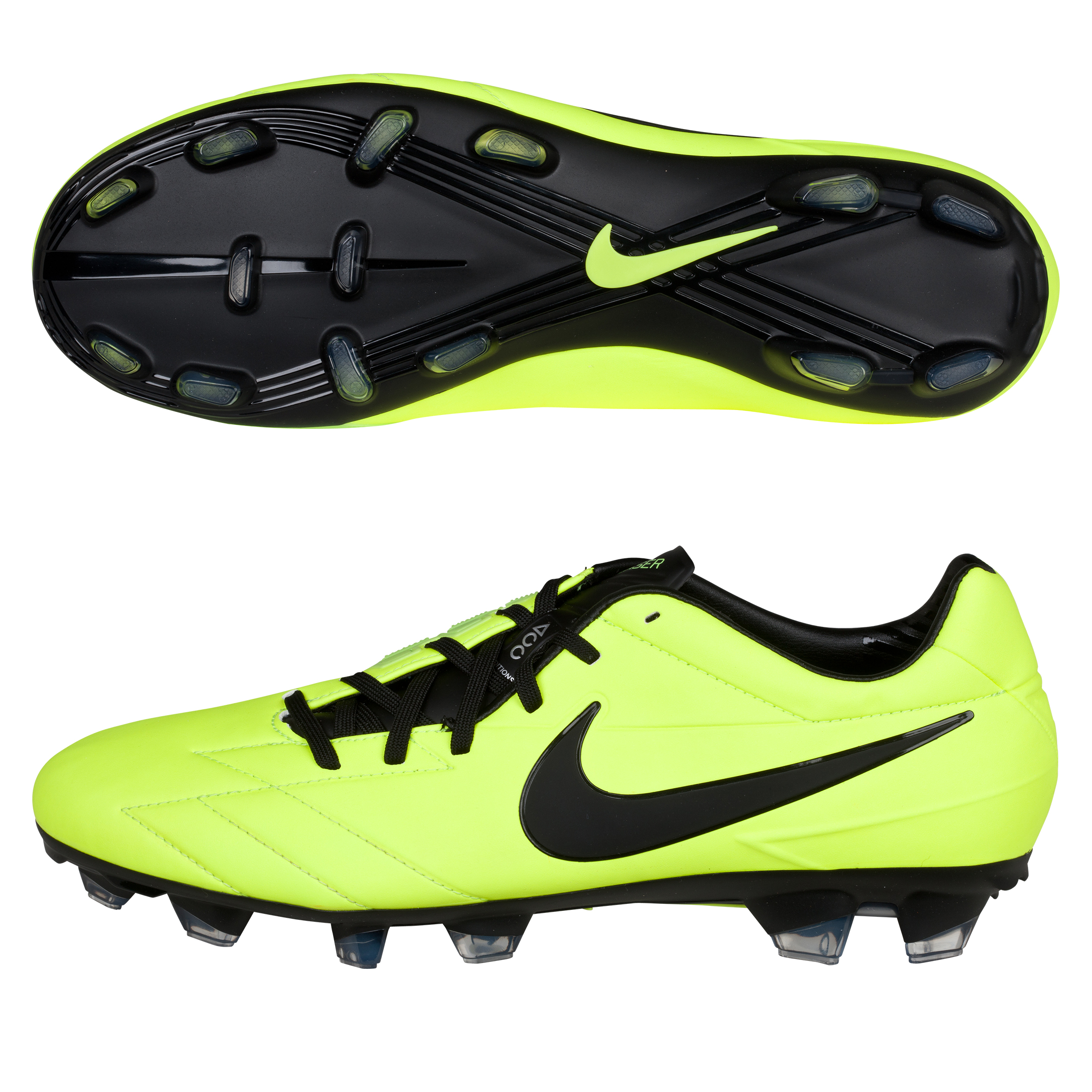Nike Total90 Laser IV Firm Ground Football Boots - Volt/Black/Citron