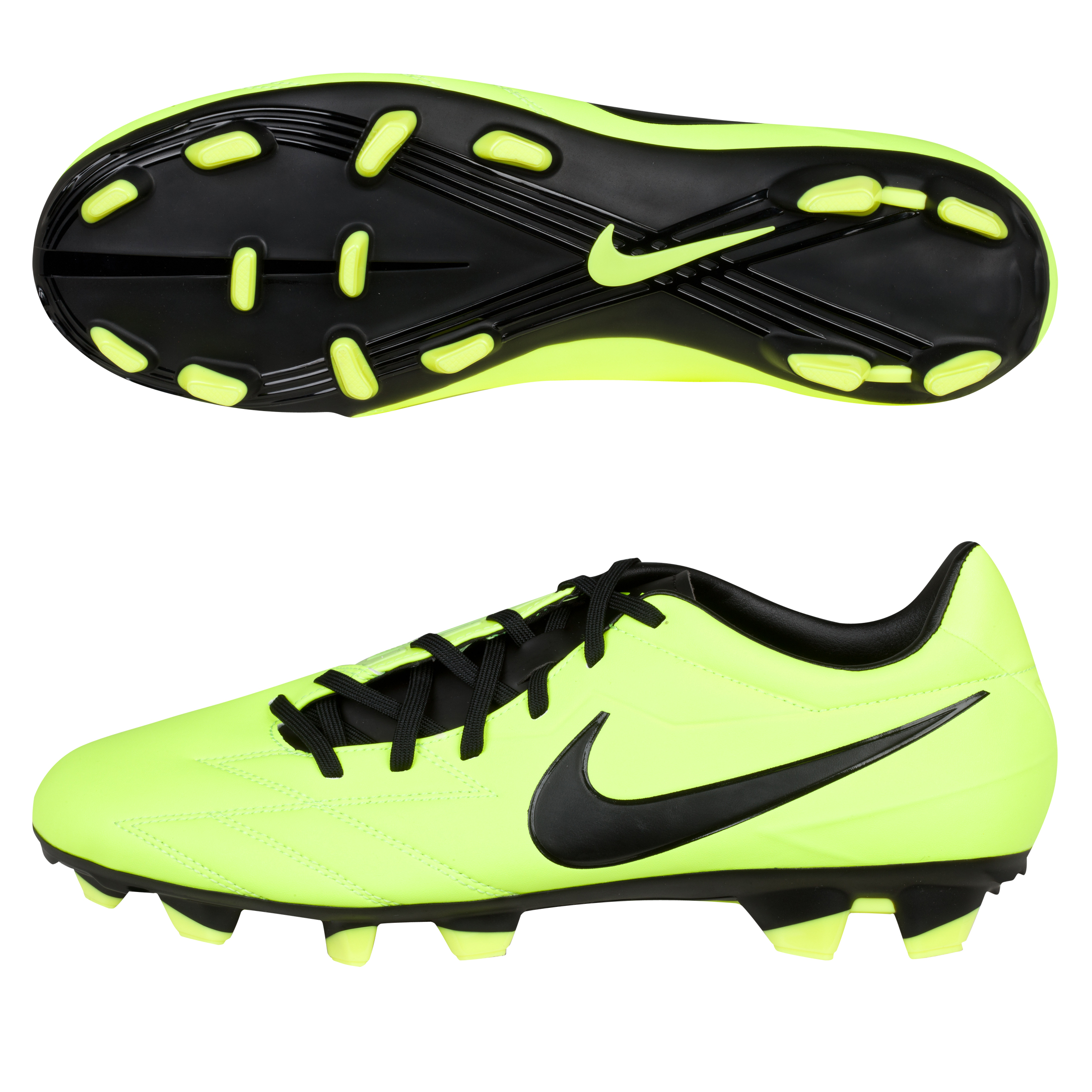 Nike Total90 Strike IV Firm Ground Football Boots - Volt/Black/Citron