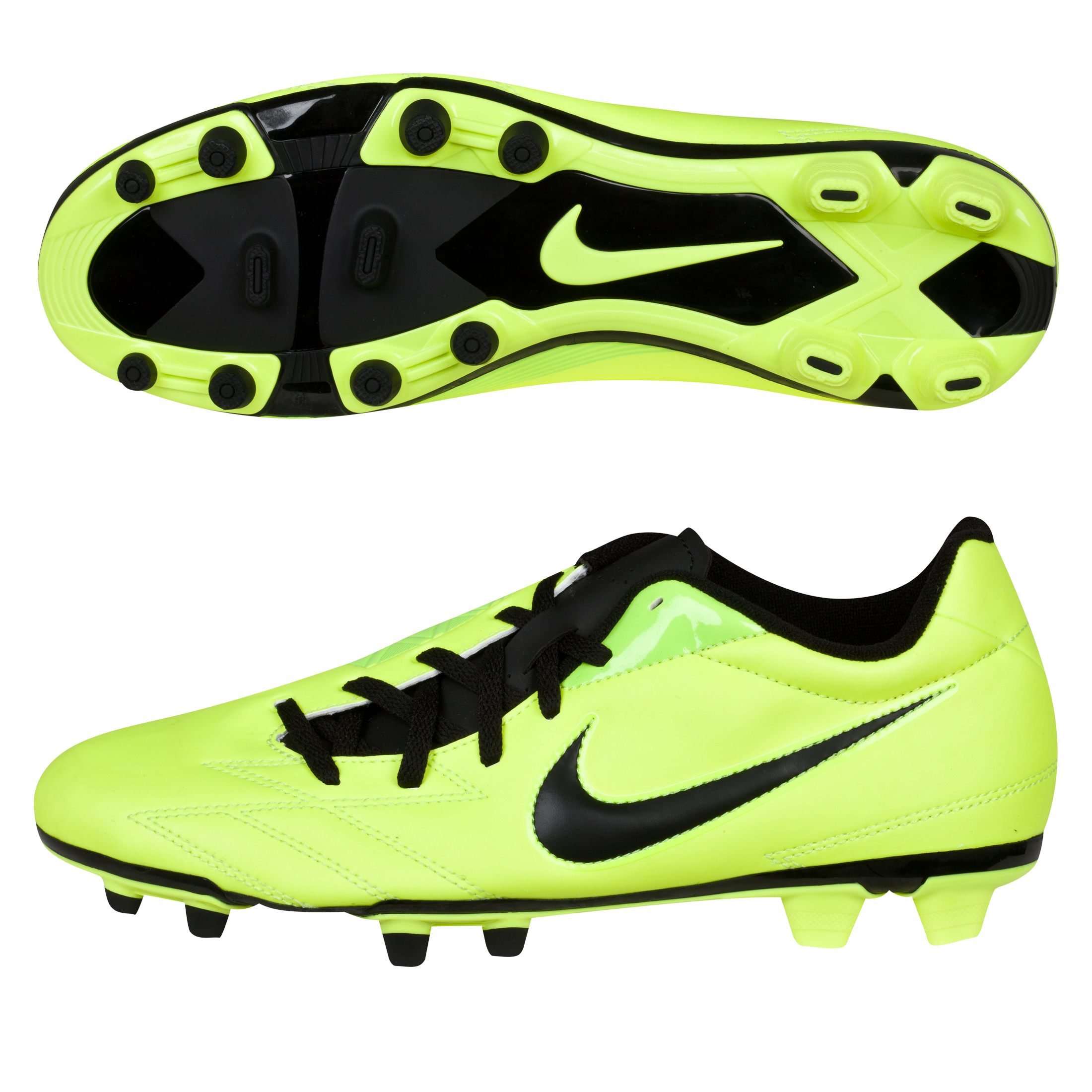Nike Total90 Exacto IV Firm Ground Football Boots - Volt/Black/Citron