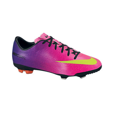 Nike Mercurial Vapor IX Firm Ground Football Boots - Kids - Fireberry/Electric Green/Red Plum