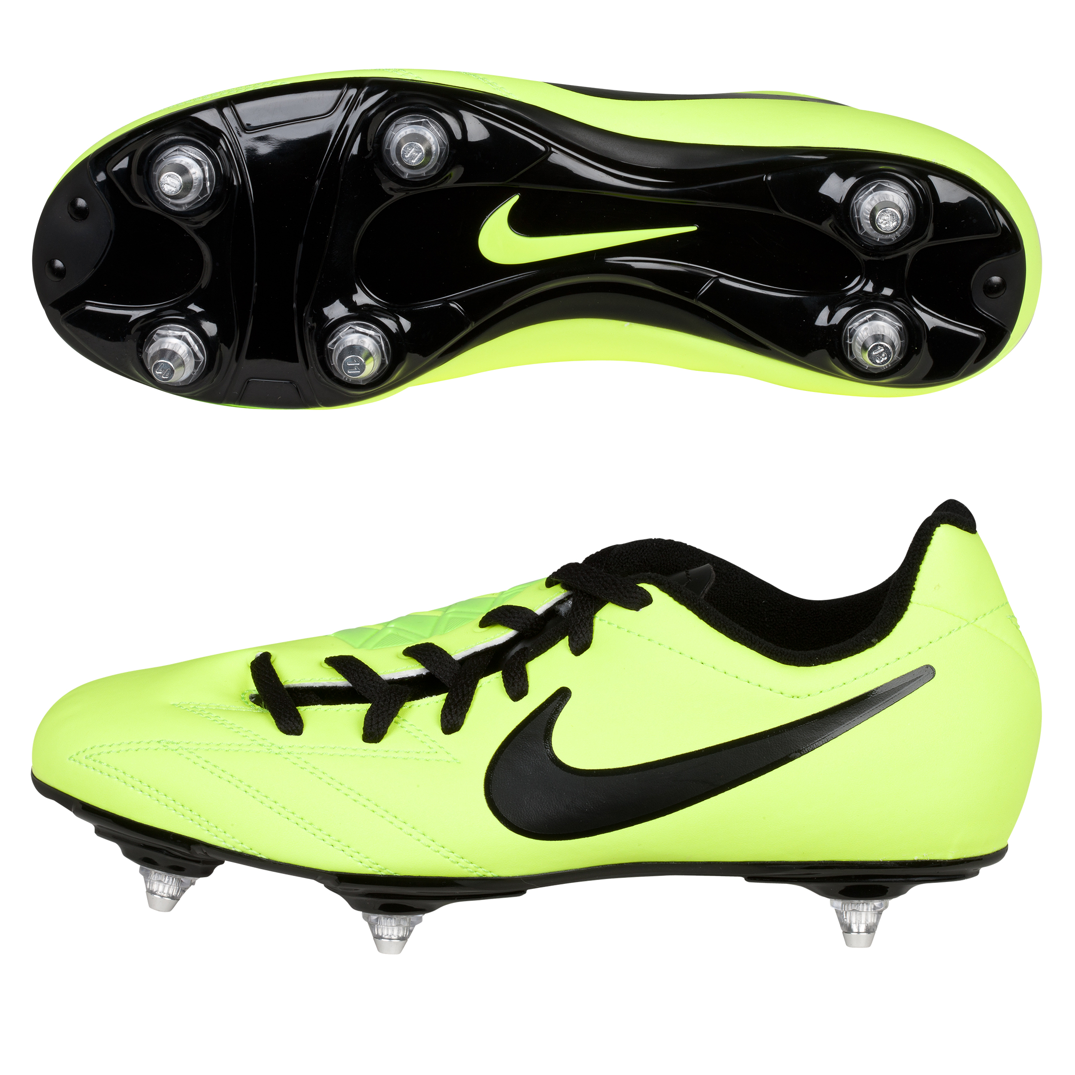 Nike Total90 Shoot IV Soft Ground Football Boots - Kids - Volt/Black/Citron