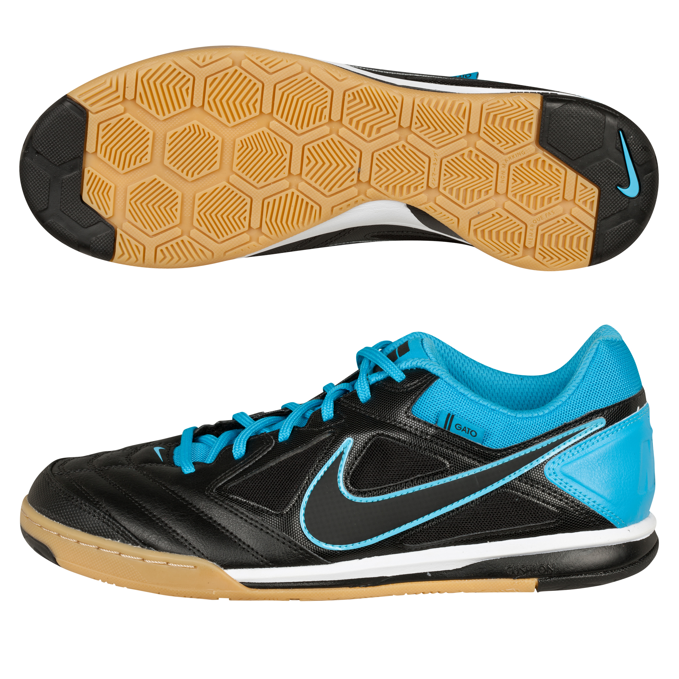 Nike Nike5 Gato Trainers - Black/Black/Current Blue