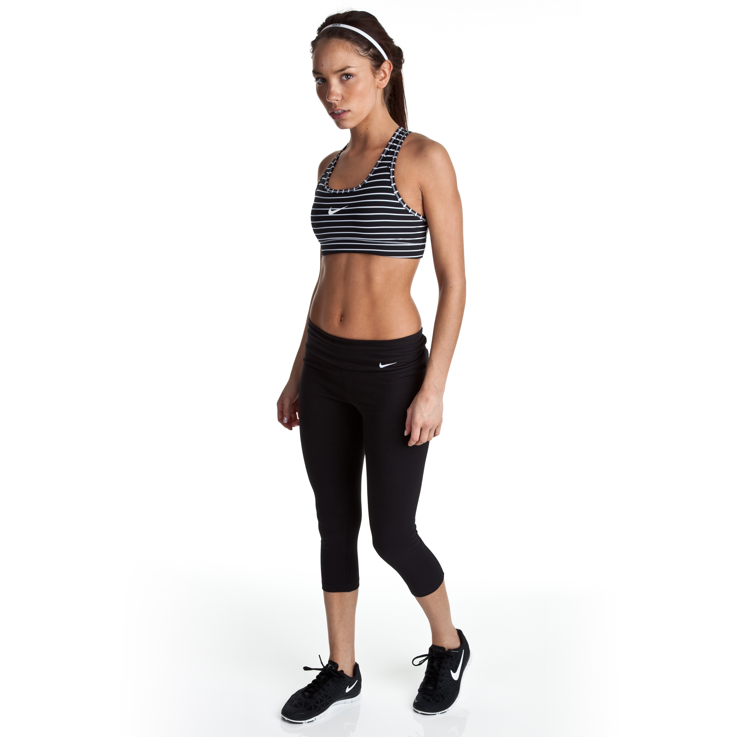 Nike Legend 2.0 Tight Dry Fit Capri - Black/Black/White - Womens