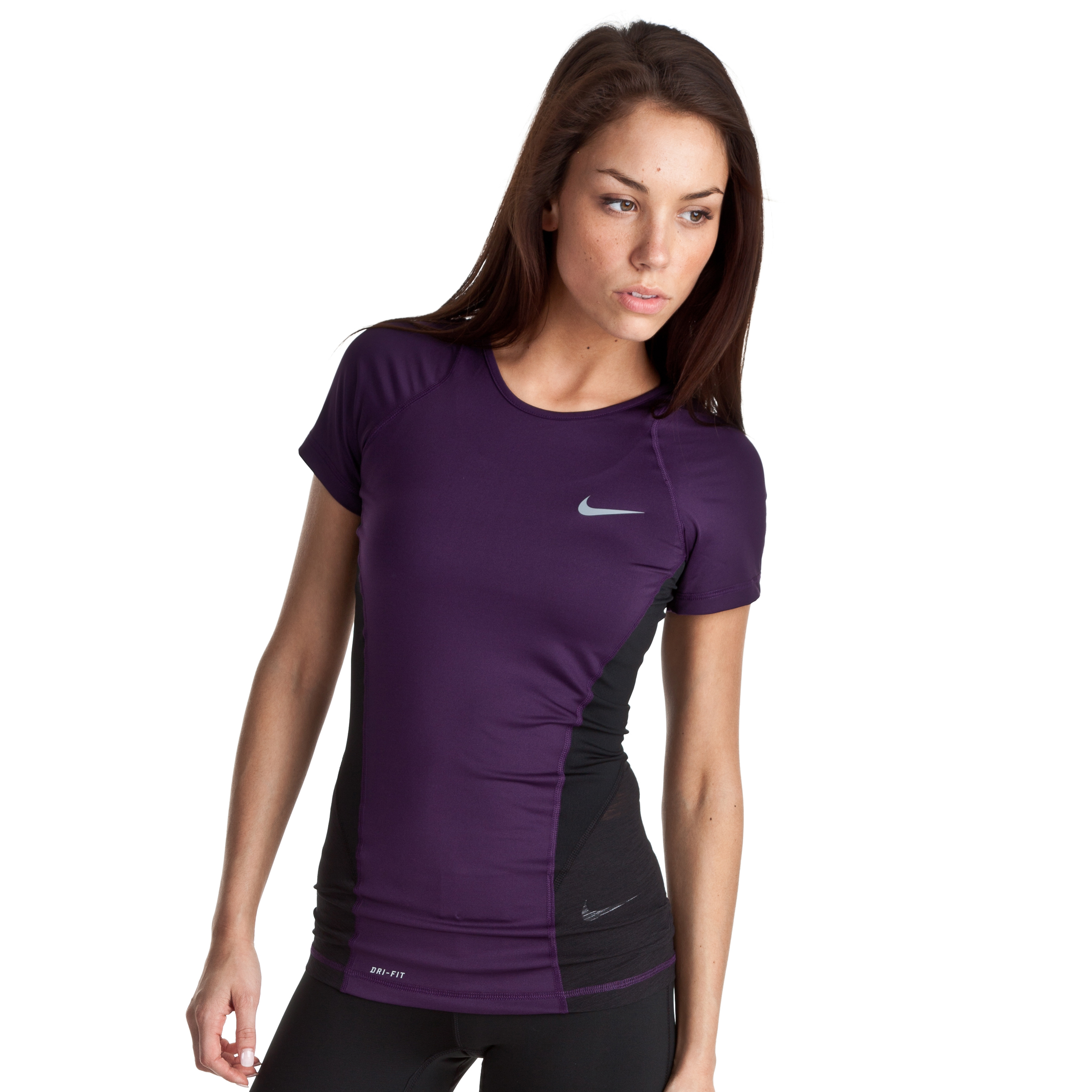 Nike Pro Hypercool Flash Short Sleeve Tee - Grand Purple/Anthracite/Anthracite - Womens