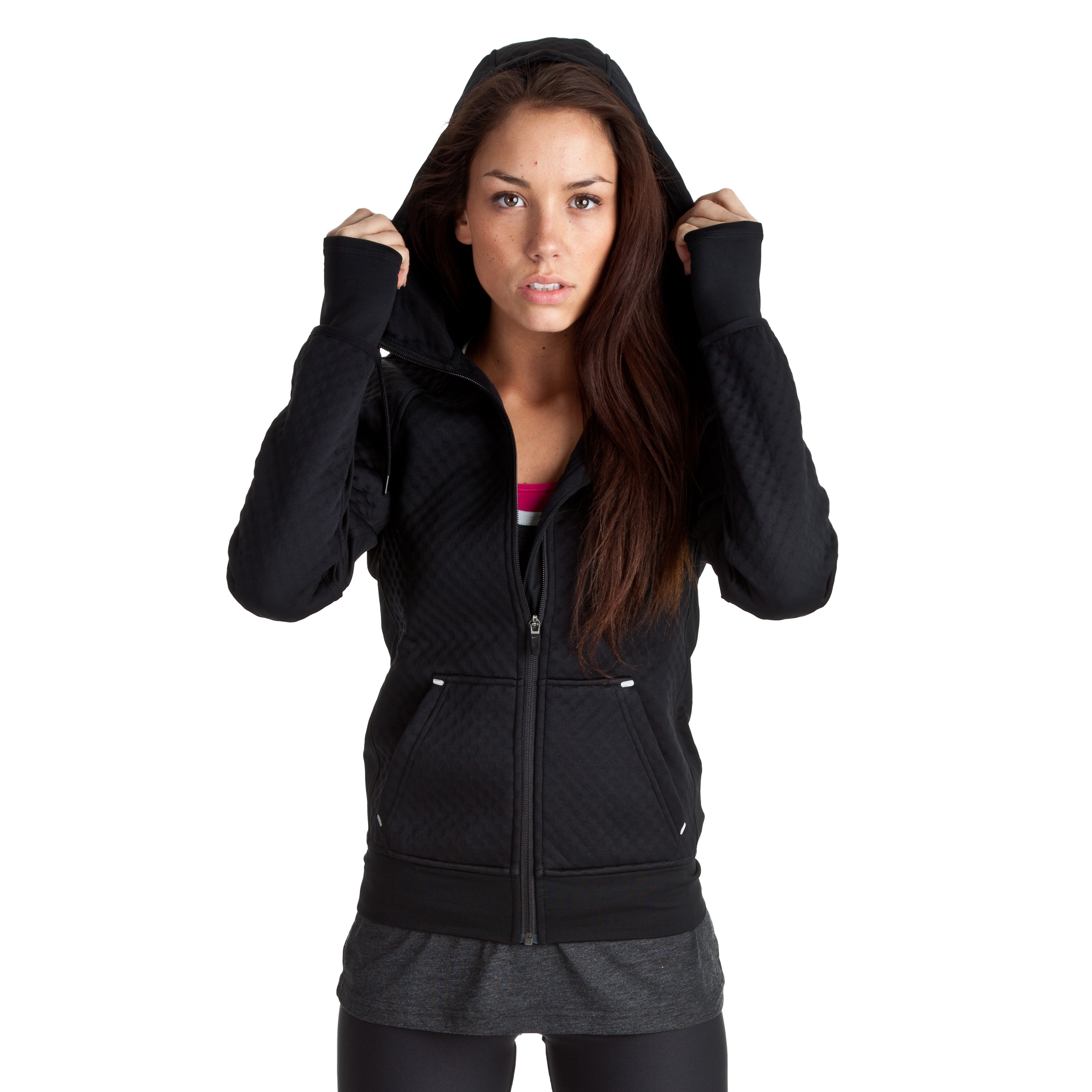 Nike All Time Sphere Hoody - Black/Black/White - Womens