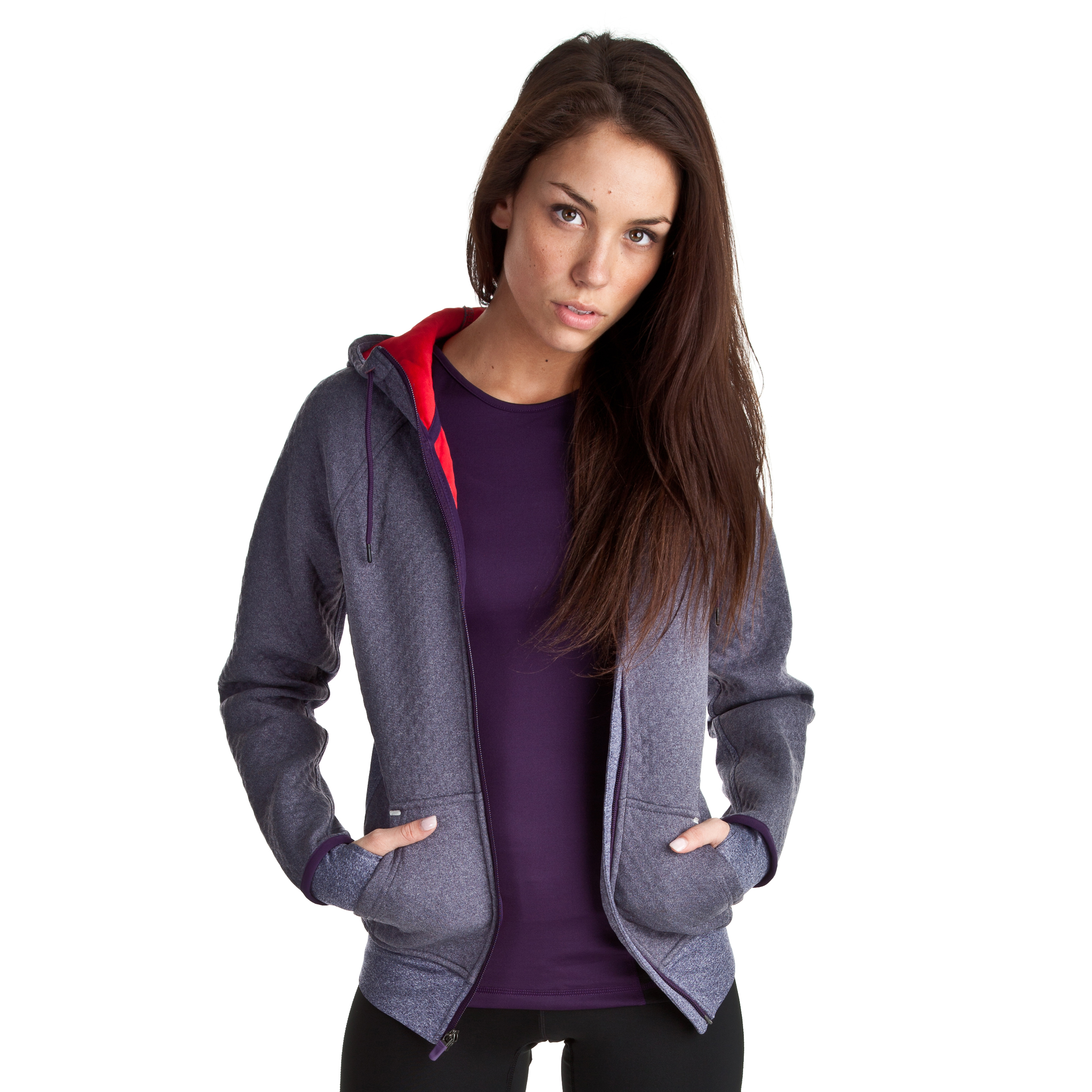 Nike All Time Sphere Hoody - Grand Purple/Hyper Red/Hyper Red - Womens