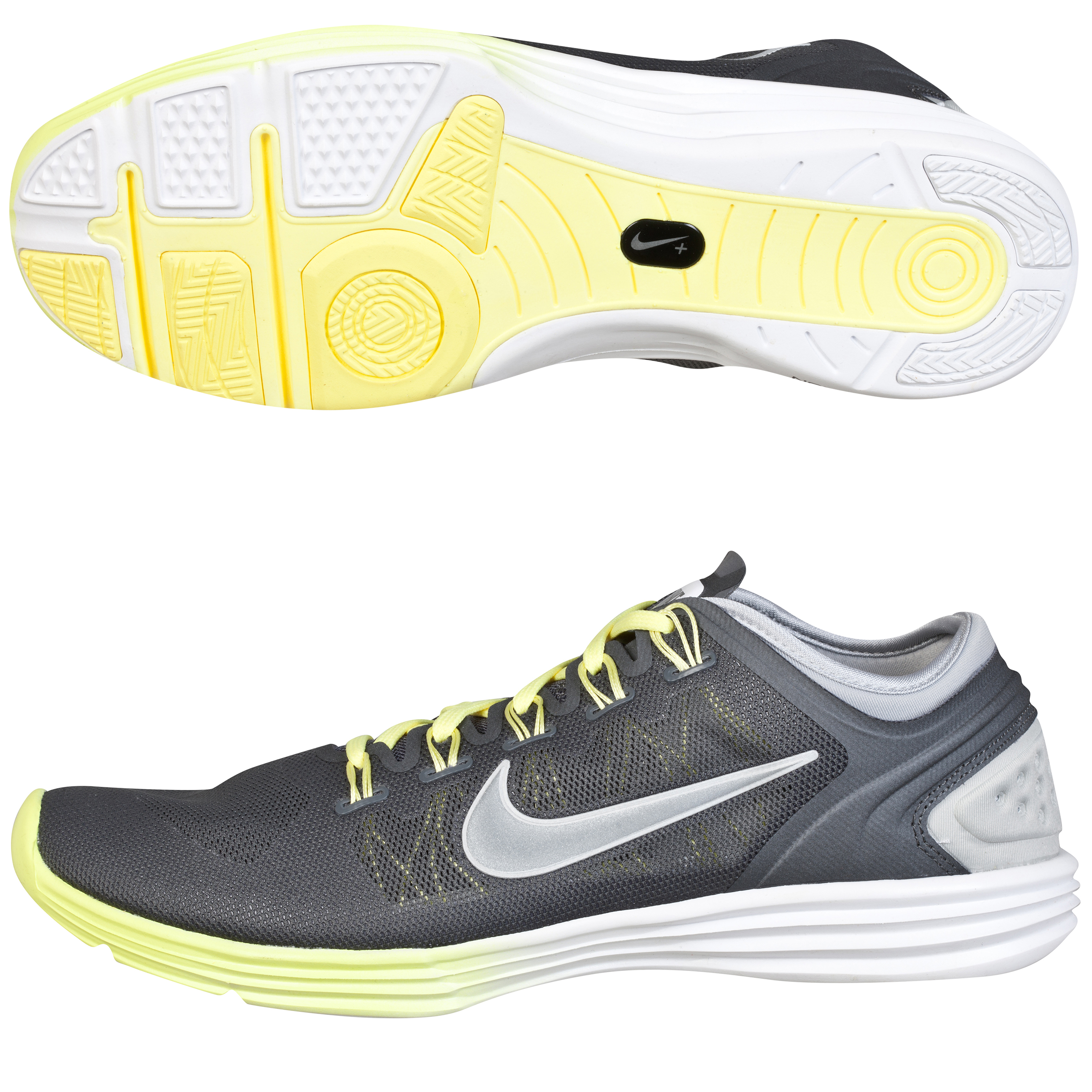 Nike Lunarhyperworkout Xt+ - Grey/Metallic Silver-Electric Yellow - Womens