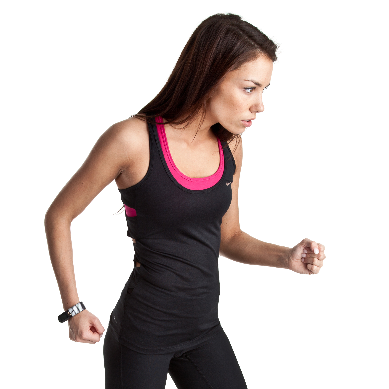 Nike Cutout Tank - Black/Black - Womens