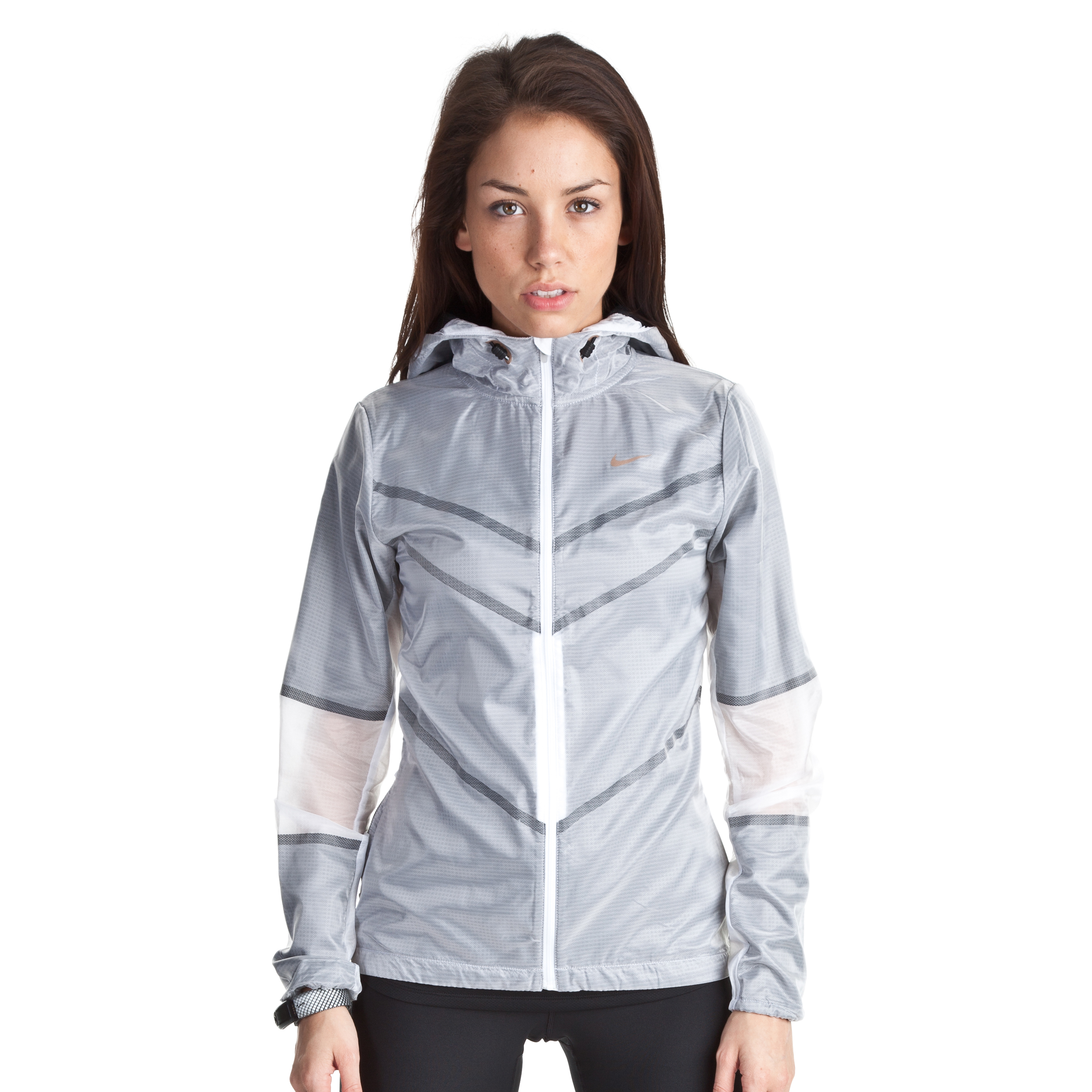 Nike Cyclone Jacket - White/Black/Metallic Bronze - Womens
