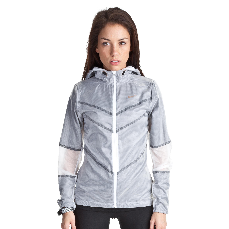 Nike Cyclone Jacket - White/Black/Metallic Bronze - Womens