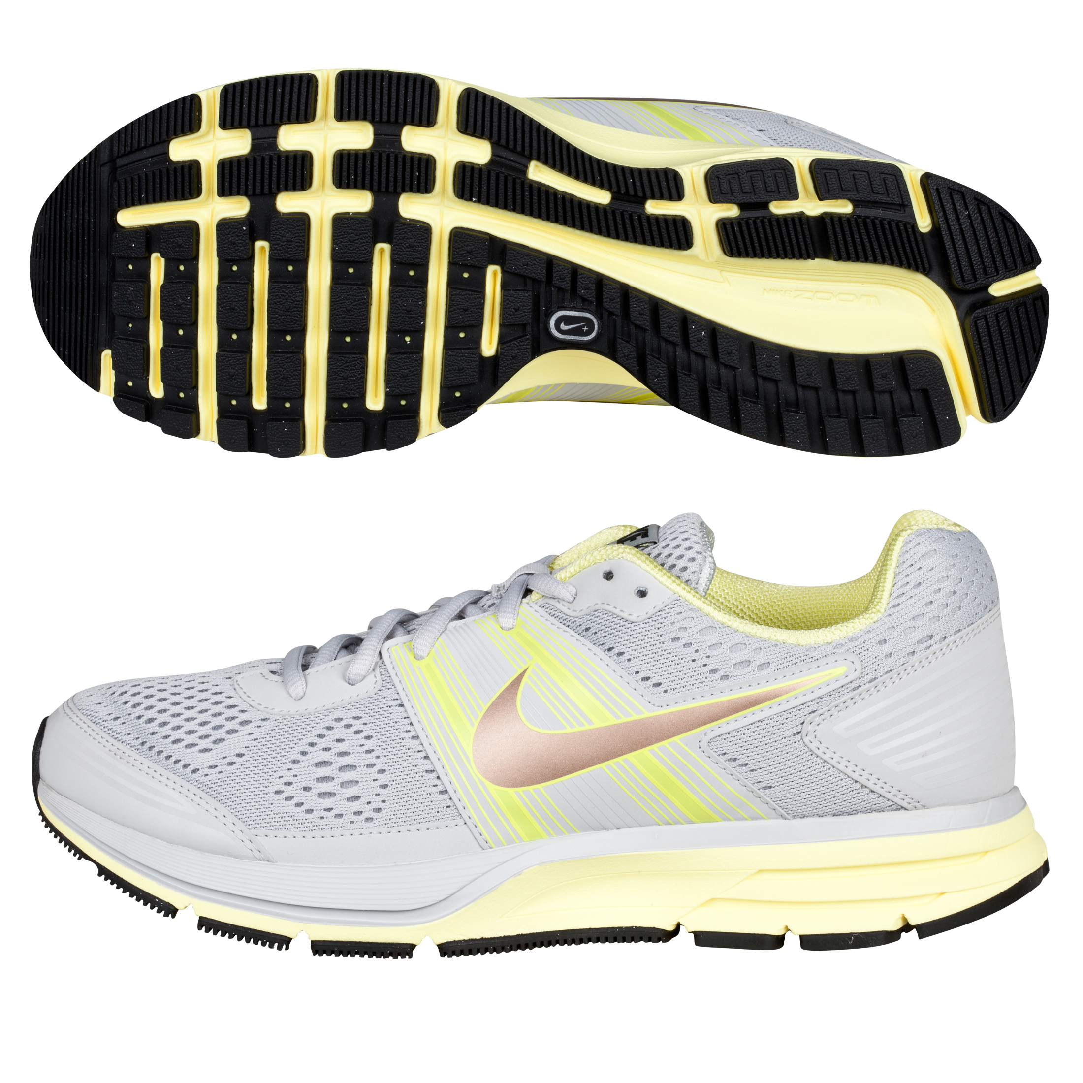 Nike Air Pegasus + 29 Neutral Trainer - Grey/Electric Yellow - Womens