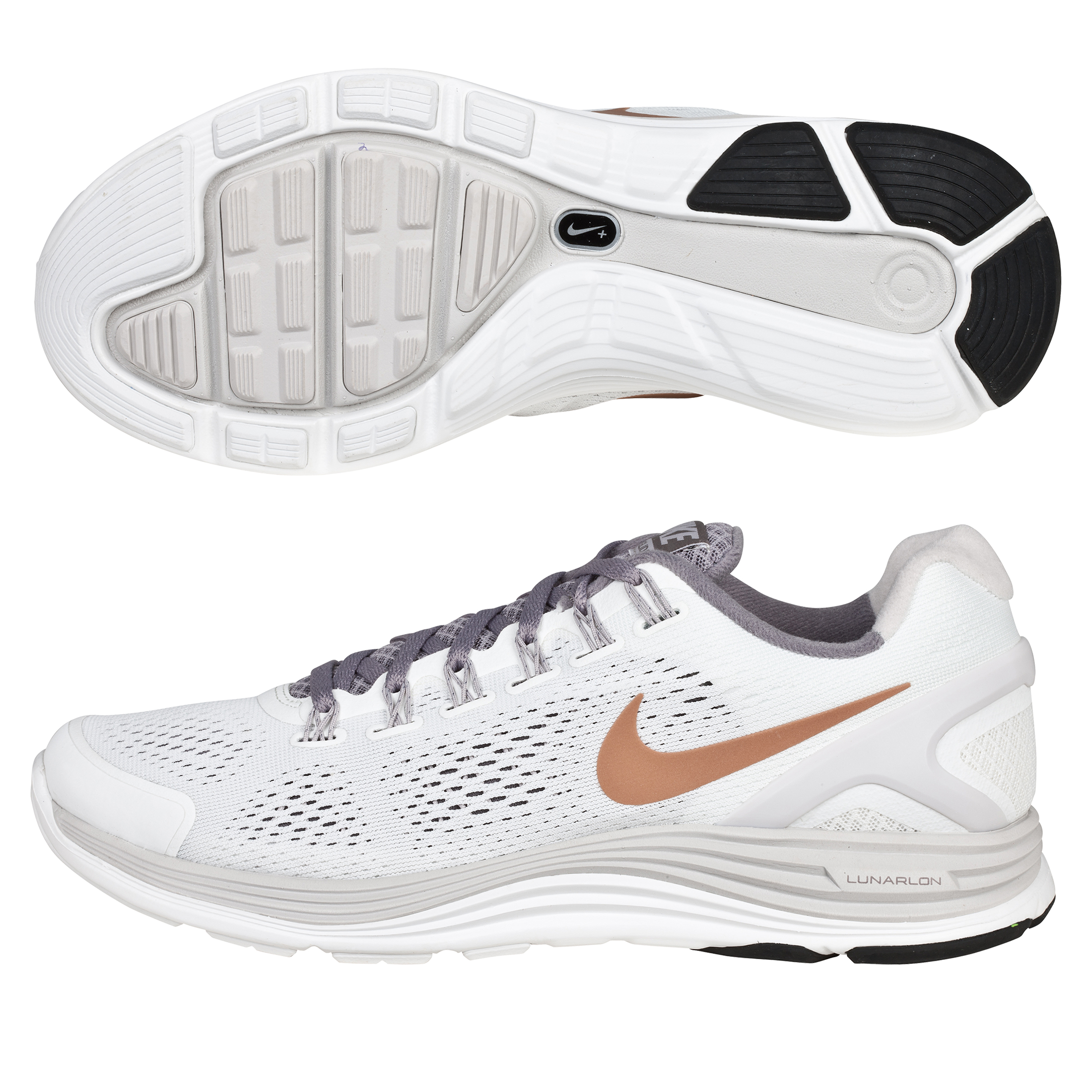 Nike Lunarglide +4 Stability Trainer - Summit White/Sport Grey - Womens