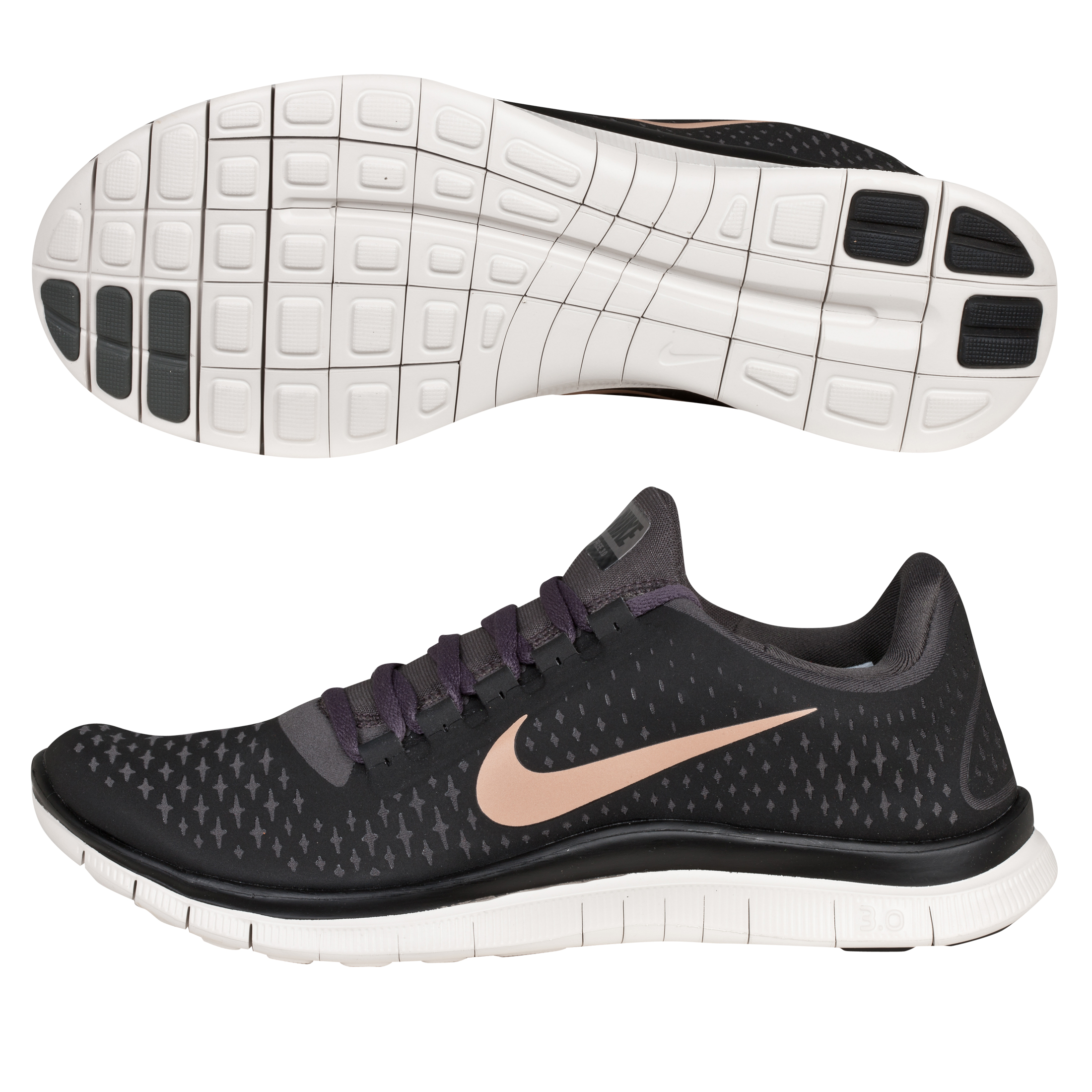 Nike Free 3.0 V4 Barefoot Trainer - Black/Metallic Bronze - Womens