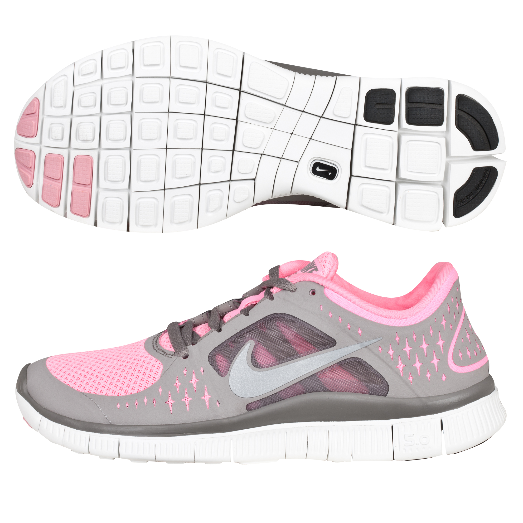 Nike Free Run +3 Barefoot Trainer - Polarized Pink/Sport Grey - Womens