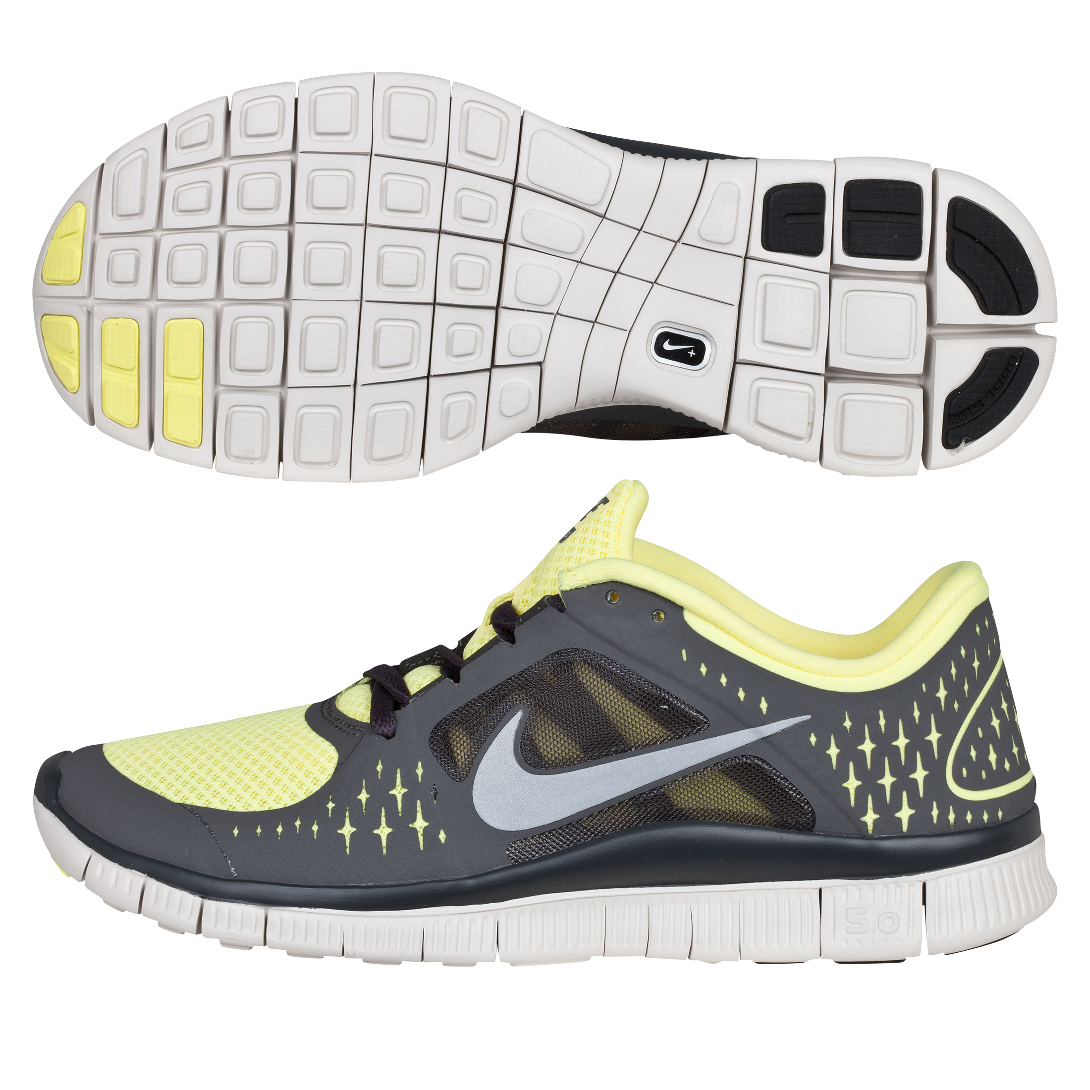 Nike Free Run +3 Barefoot Trainer - Electric Yellow/Reflective Silver - Womens