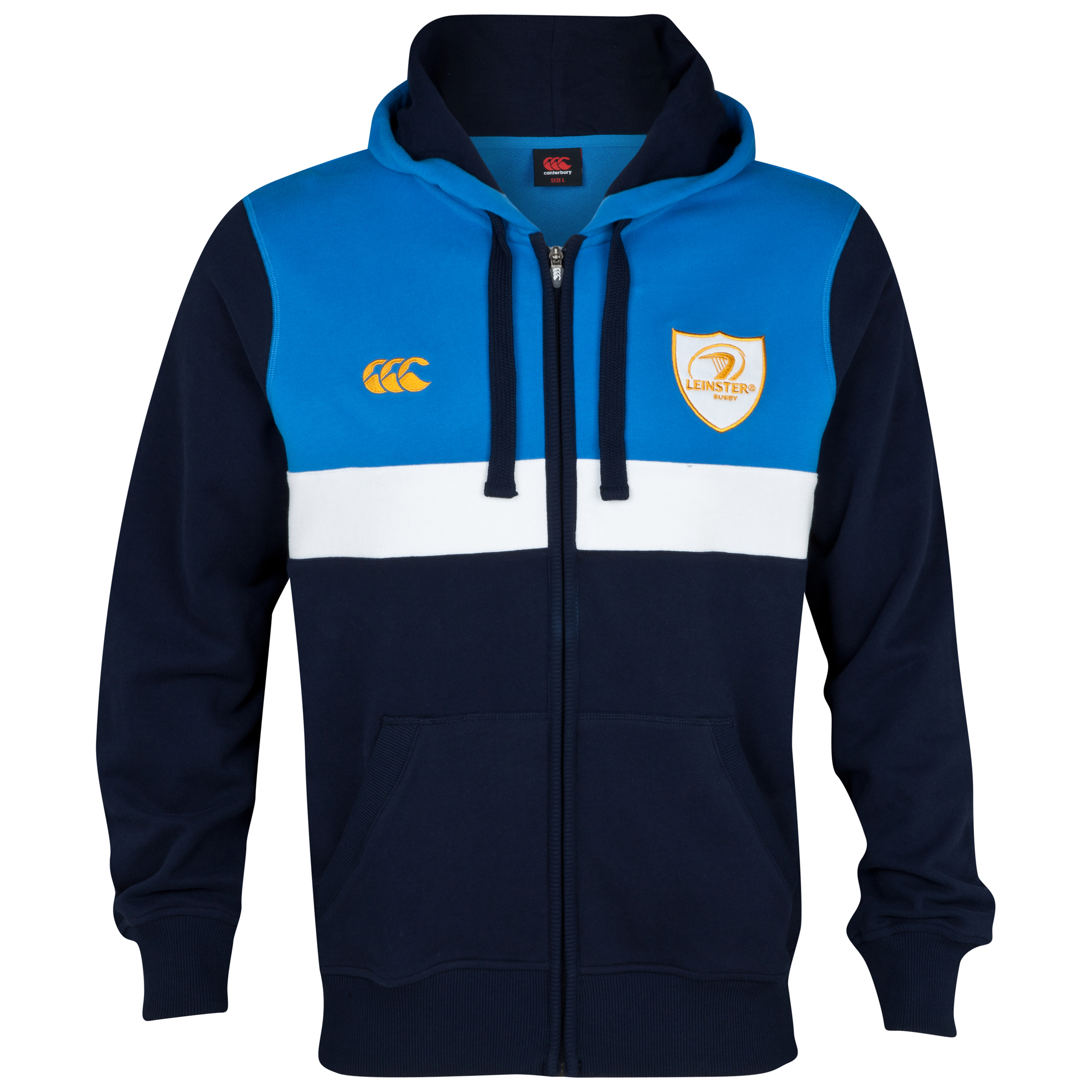 Leinster Full Zip Hooded Sweatshirt - Navy/French Blue