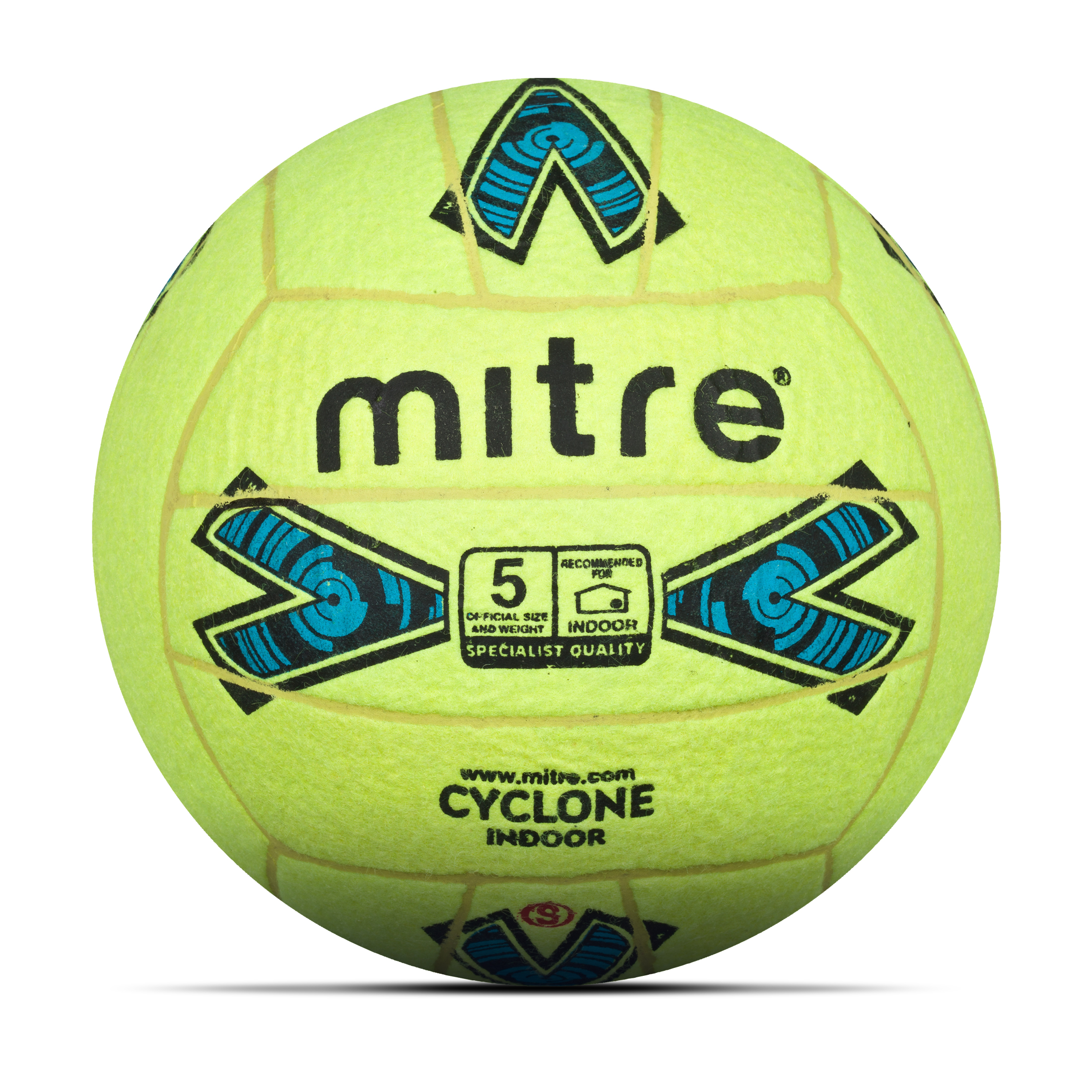 Mitre Cyclone Indoor 18P Football - Yellow