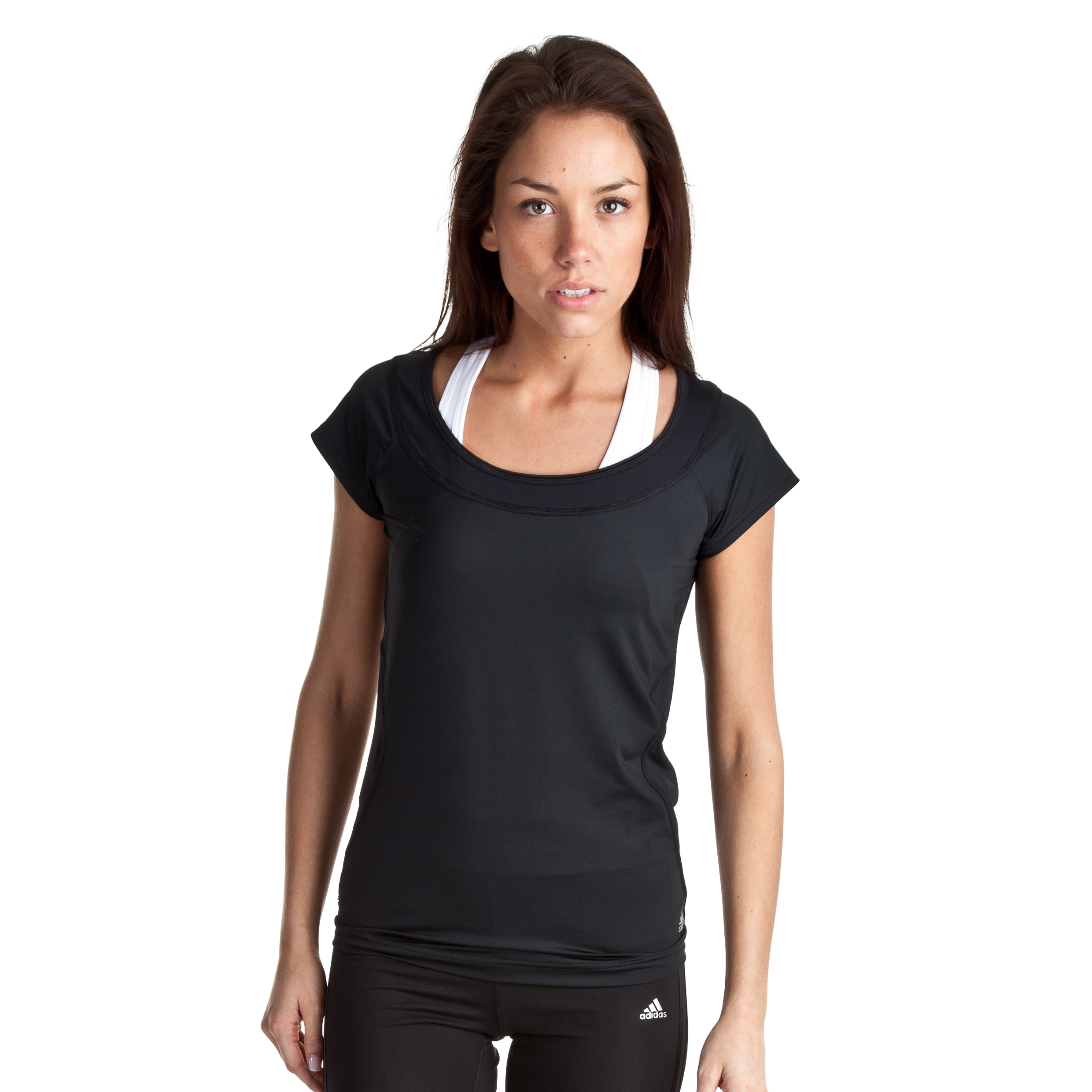 Adidas Studio Power Core Tee - Black - Womens