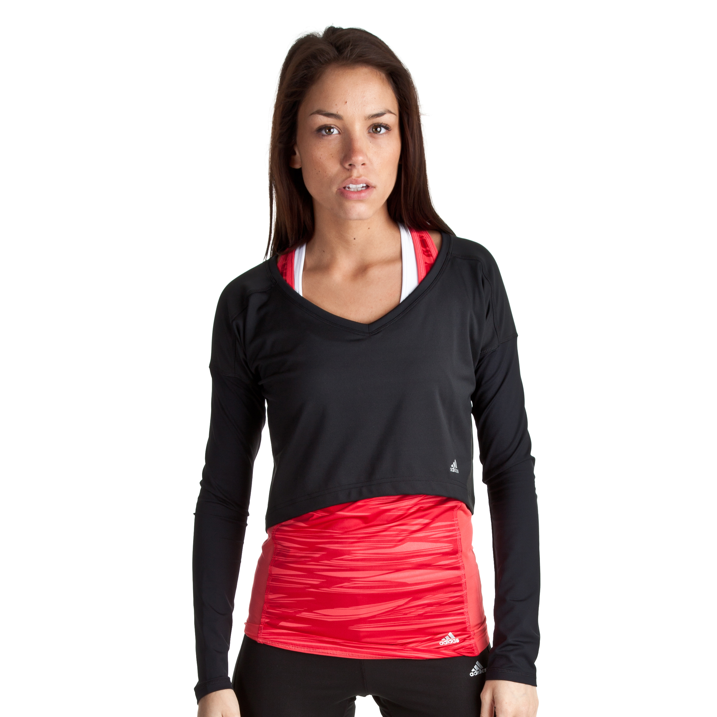 Adidas Studio Power Cover Up Top - Black - Womens