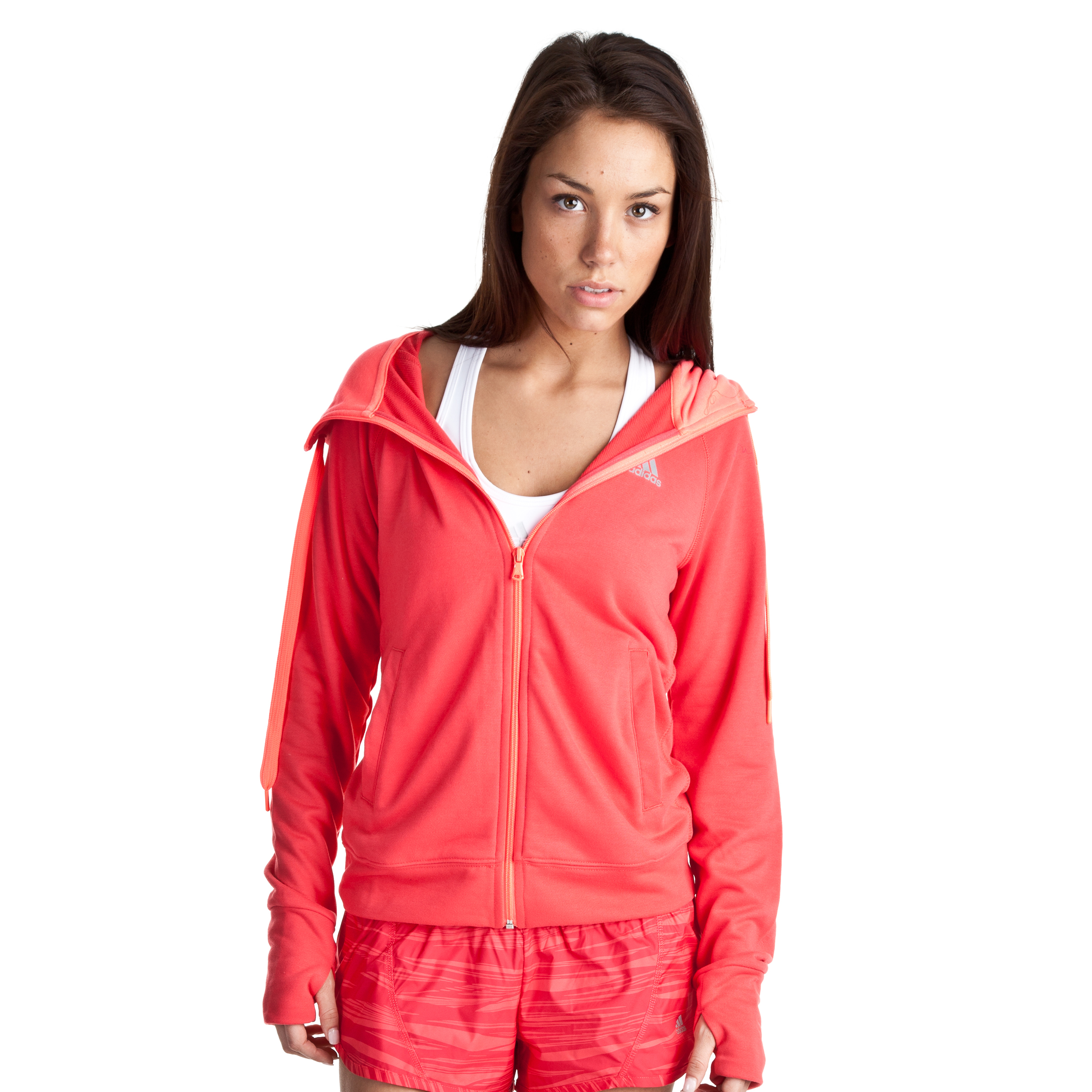 Adidas Prime Hooded Jacket - Joy S13/Refl.Silver - Womens