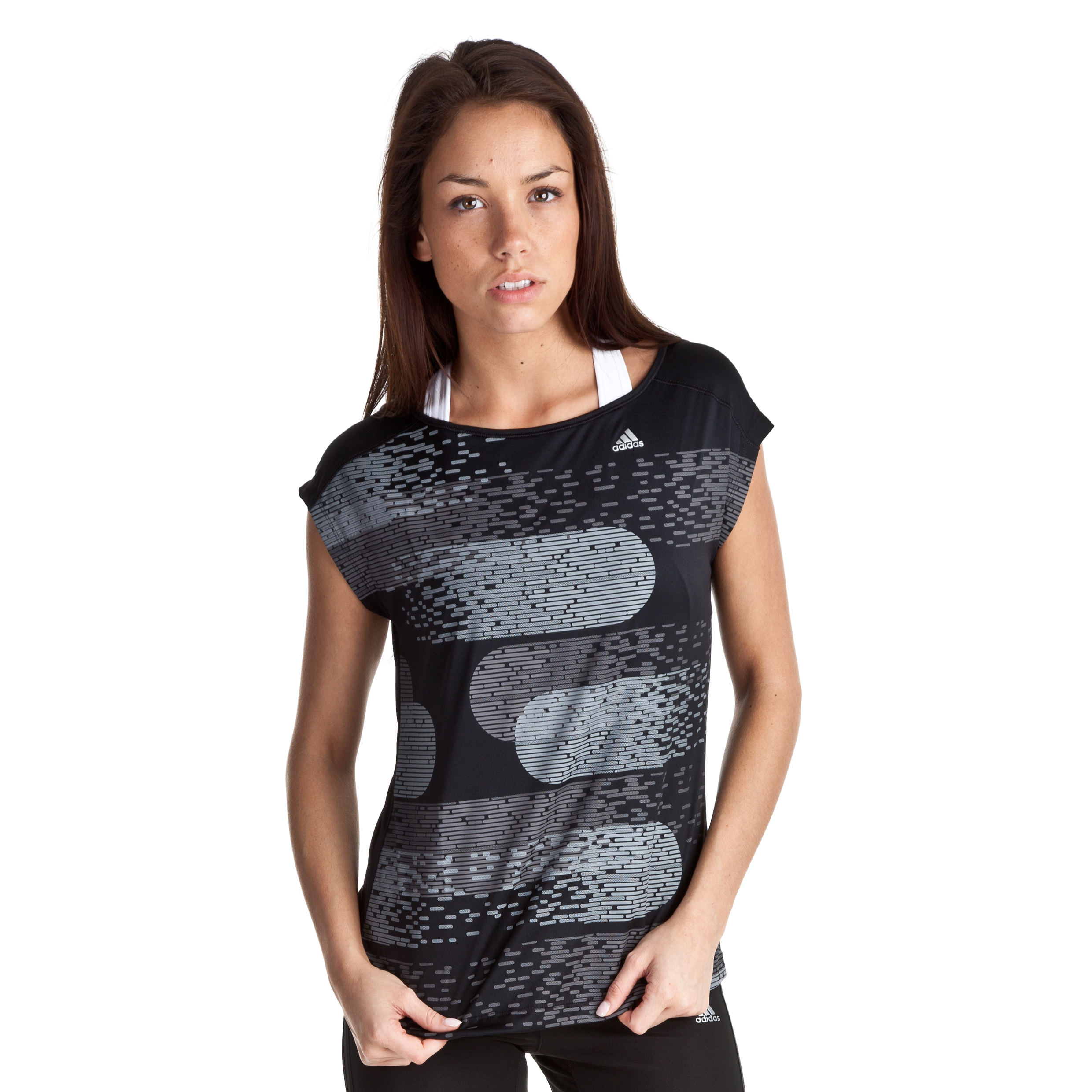 Adidas Climacool Graphic Tee - Black/Matte Silver - Womens