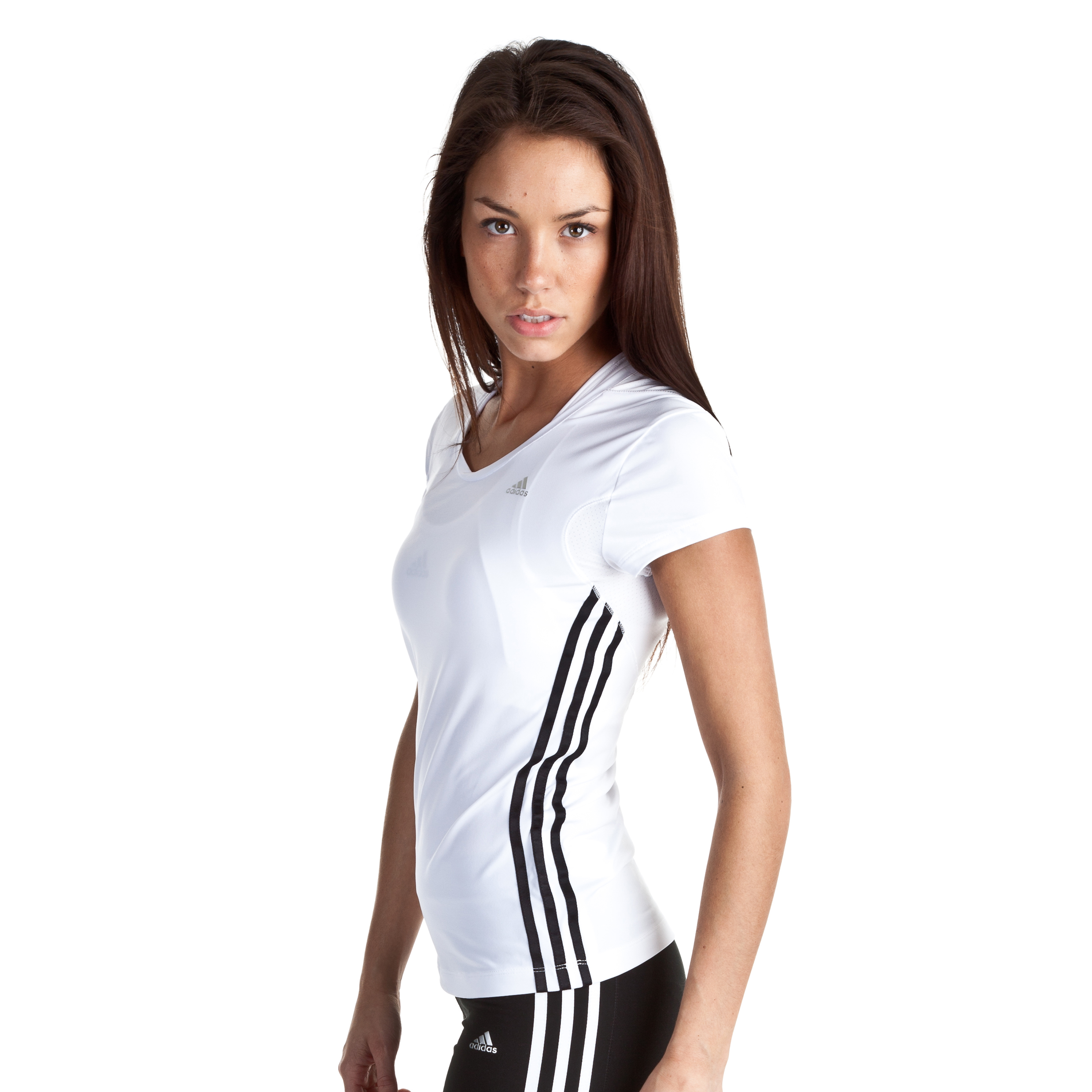 Adidas Climacool Core Tee - White/Black/Matte Silver - Womens
